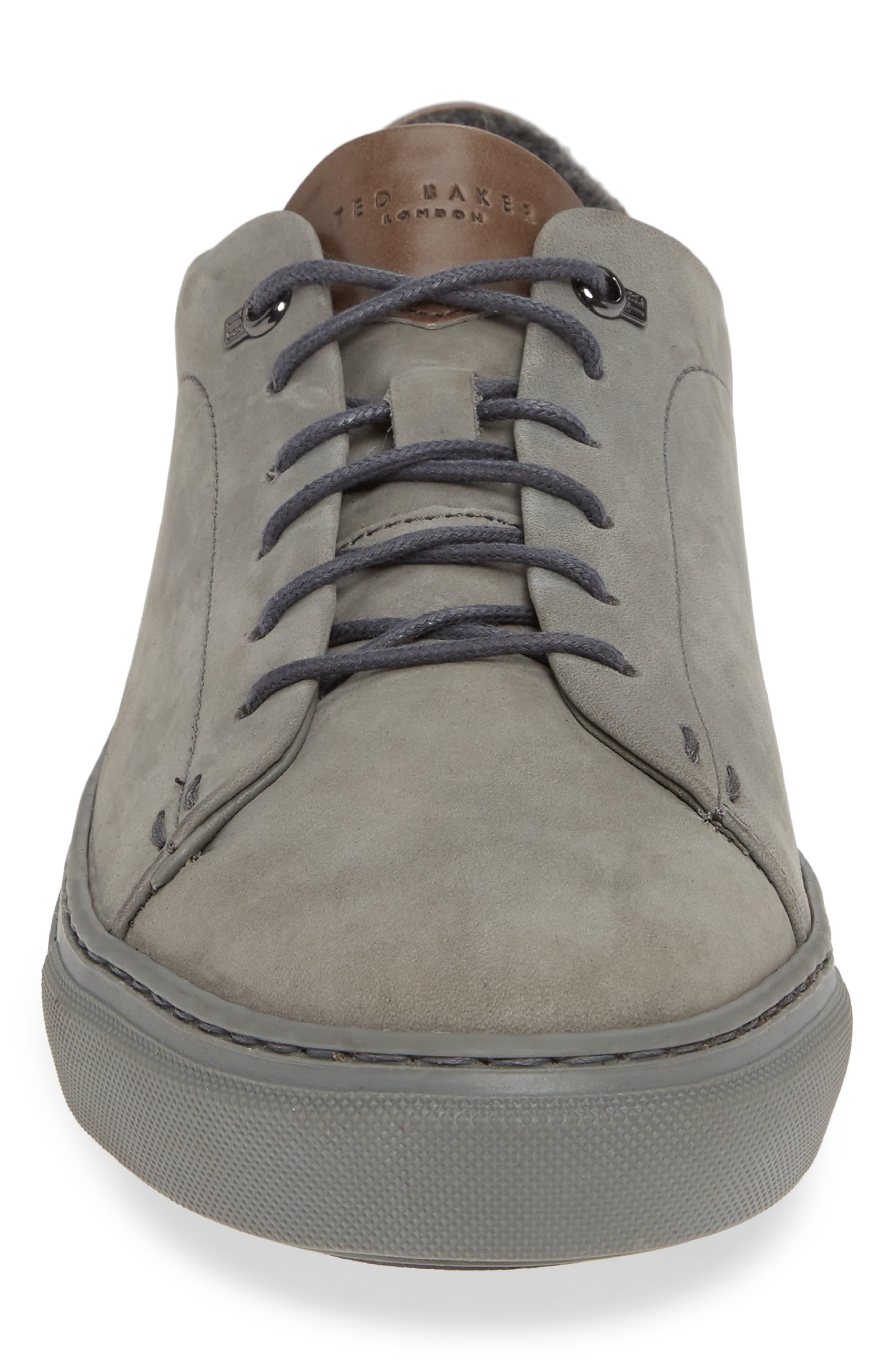 Dahvid Nubuck Sneaker,                             Alternate thumbnail 4, color,                             GREY NUBUCK