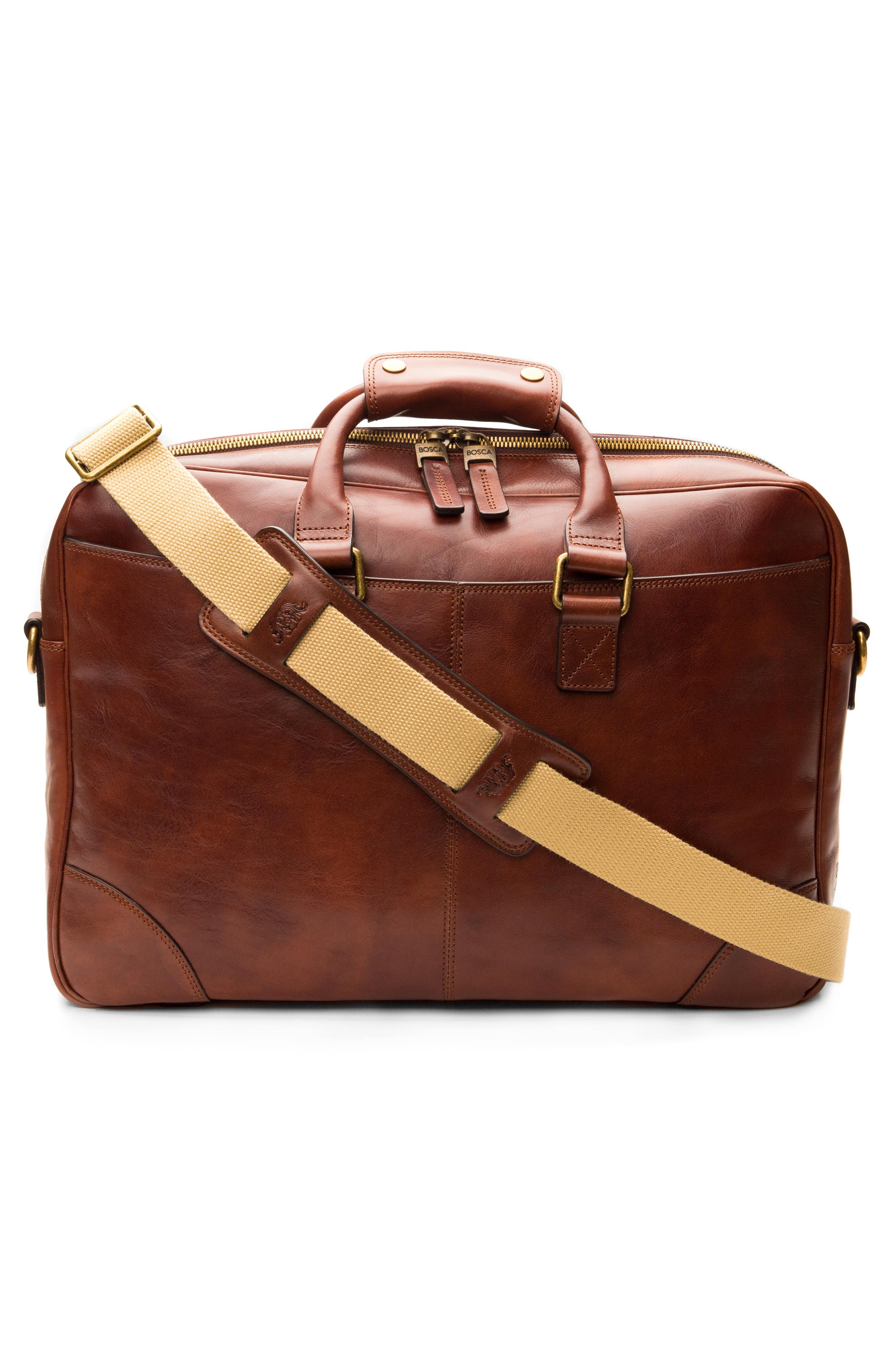 Leather Briefcase,                             Alternate thumbnail 7, color,                             200