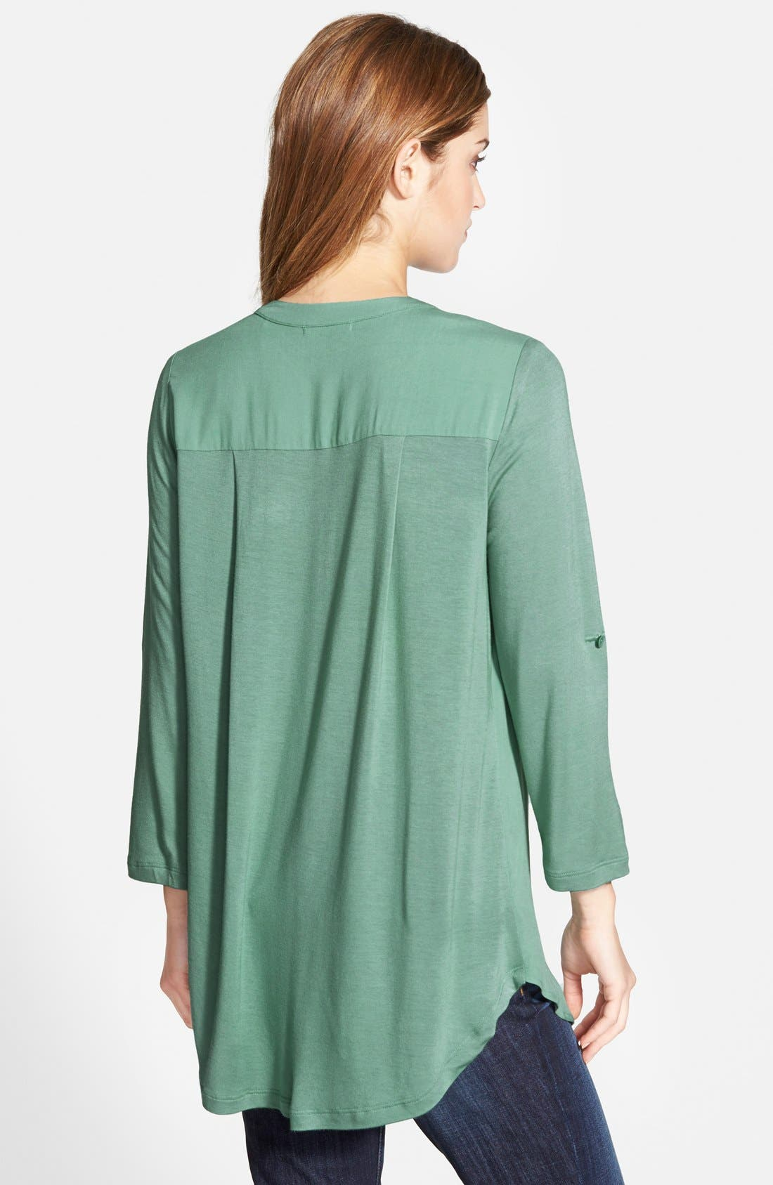 Mixed Media V-Neck Tunic,                             Alternate thumbnail 114, color,