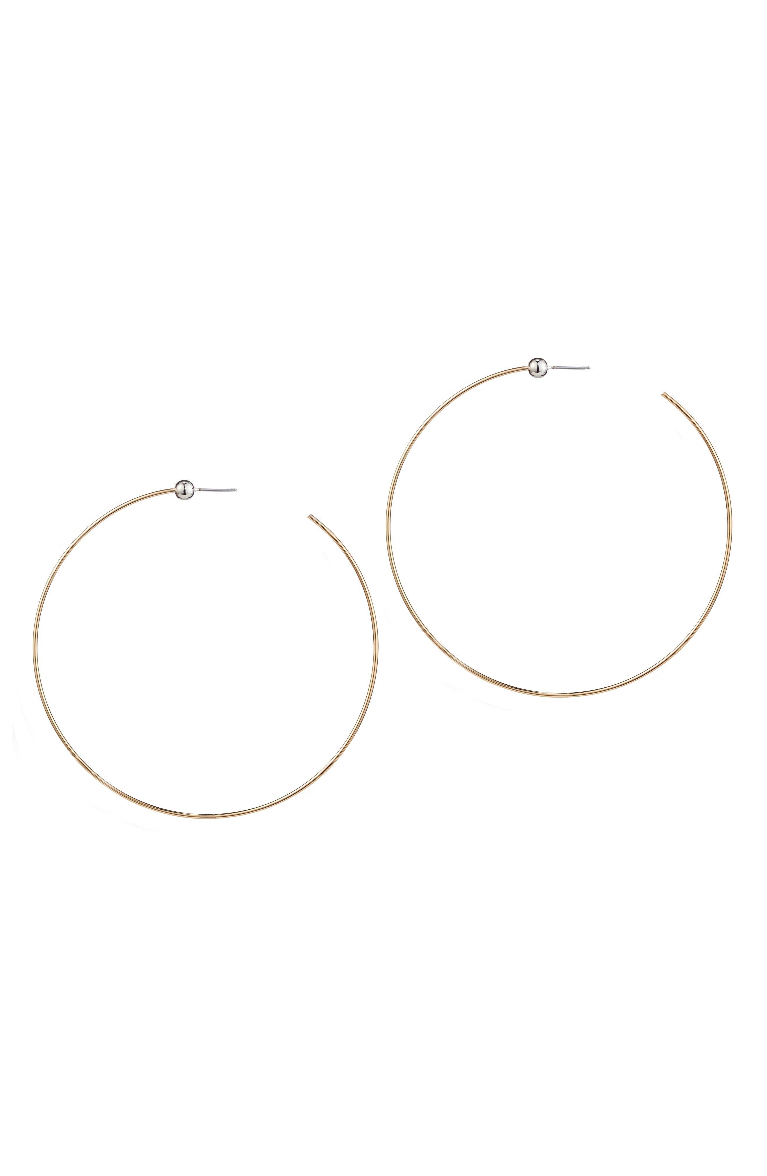 Large Icon Hoop Earrings,                         Main,                         color, 712