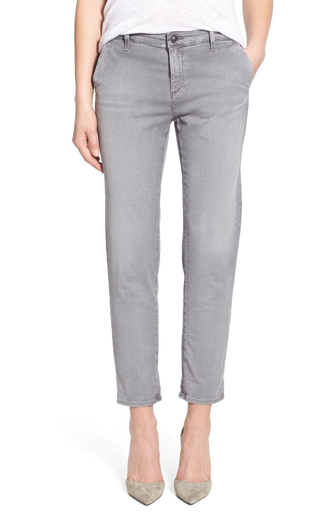 AG,                             'Caden' Crop Slim Jeans,                             Main thumbnail 1, color,                             020