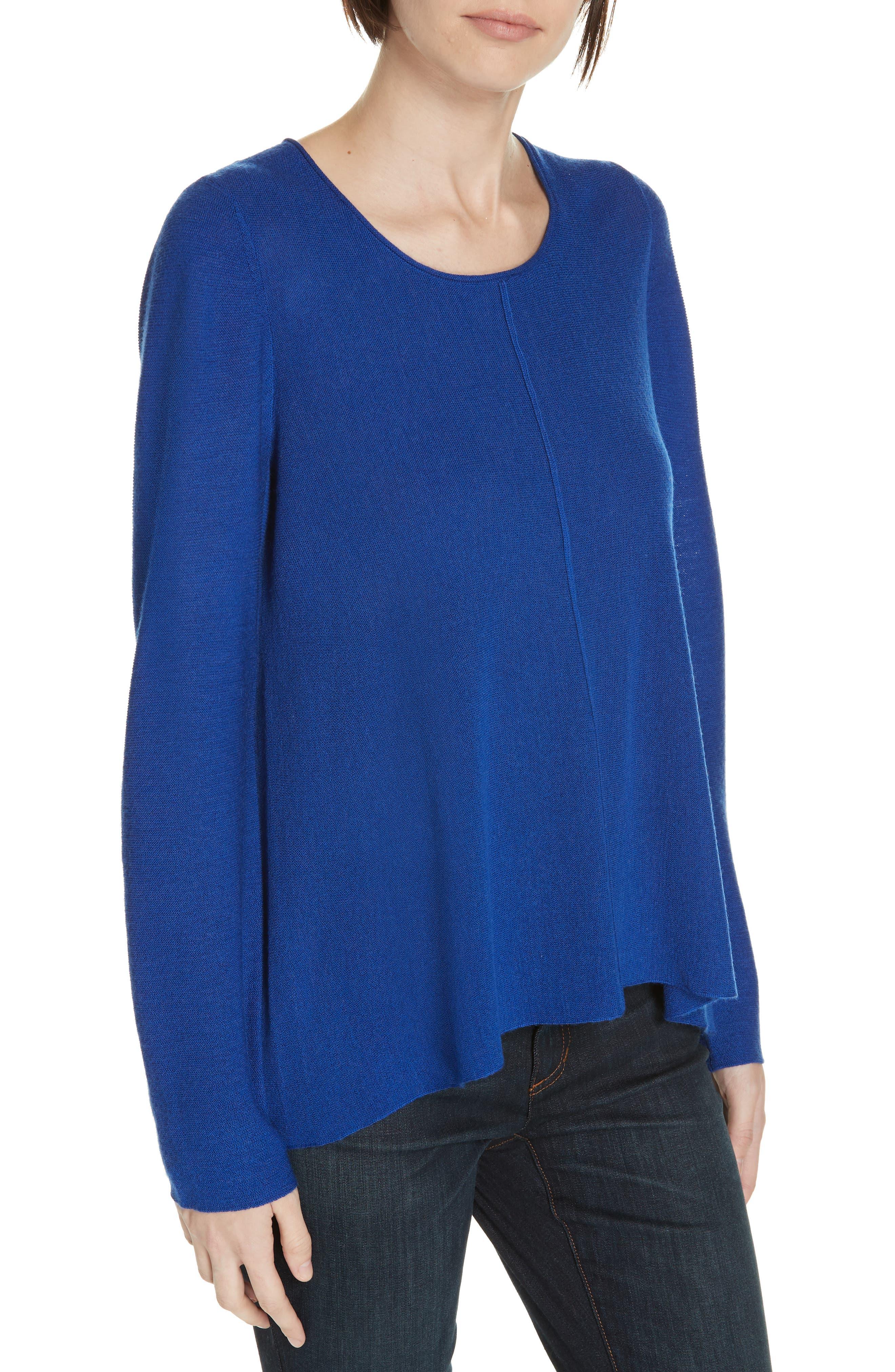 Eileen Fisher Merino Wool Pullover, Blue
