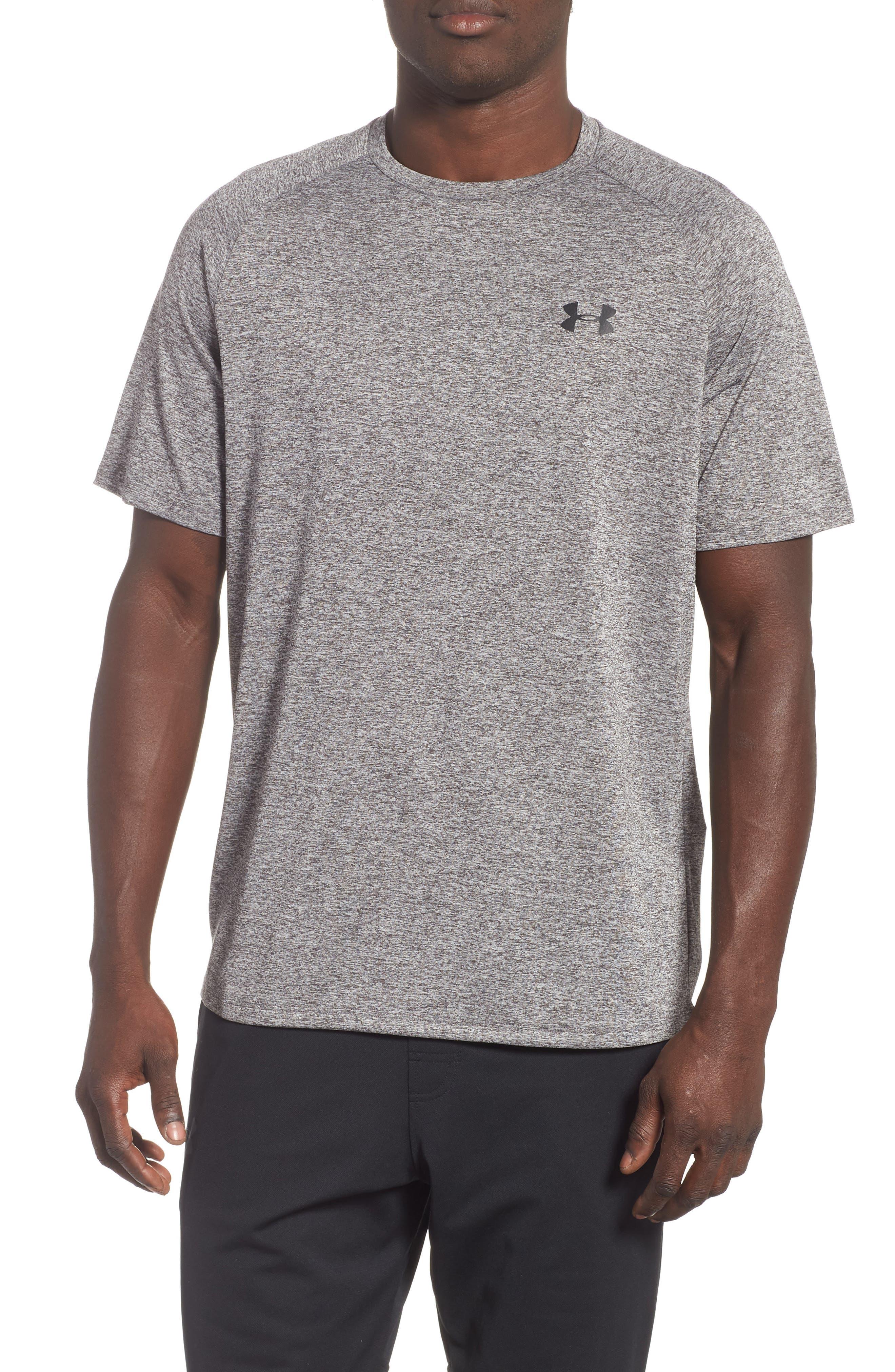 UA Tech<sup>™</sup> T-Shirt,                         Main,                         color, CHARCOAL LIGHT HEATHER