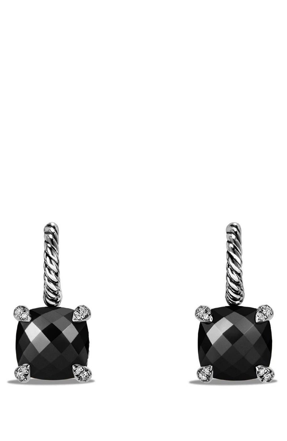 'Châtelaine' Drop Earrings with Semiprecious Stones and Diamonds,                             Main thumbnail 1, color,                             001