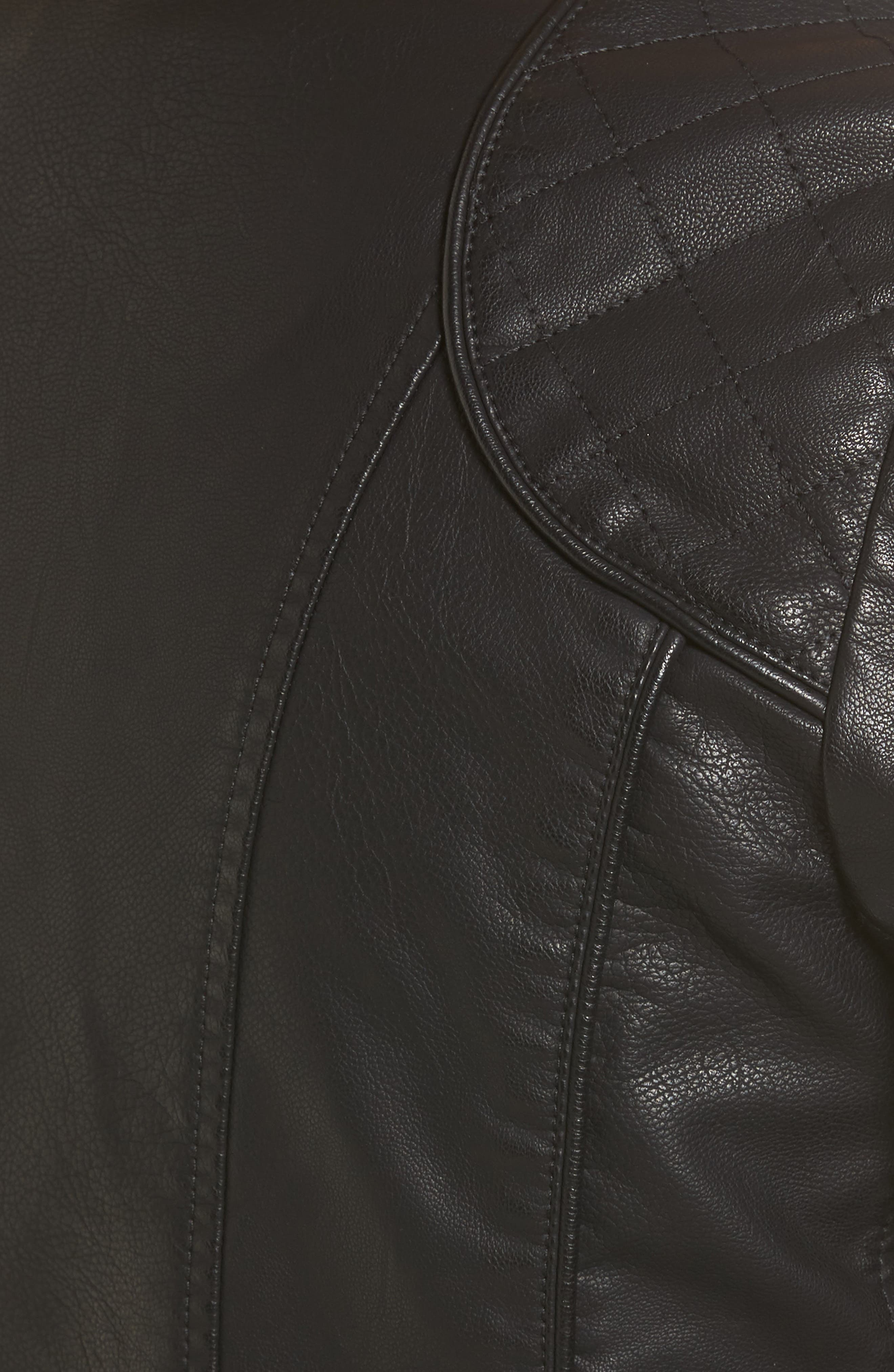 Side Lace Faux Leather Jacket,                             Alternate thumbnail 12, color,