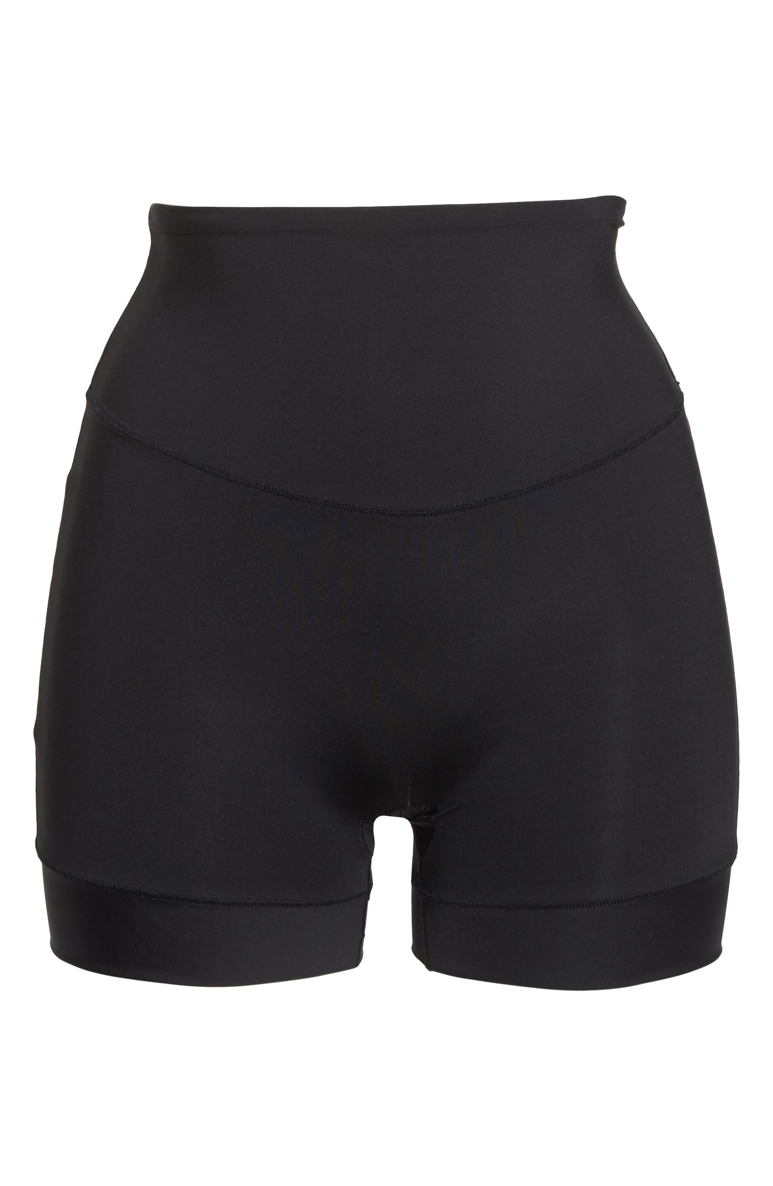 Tummie Tamers Mid Waist Shaping Shorts,                             Alternate thumbnail 6, color,                             001