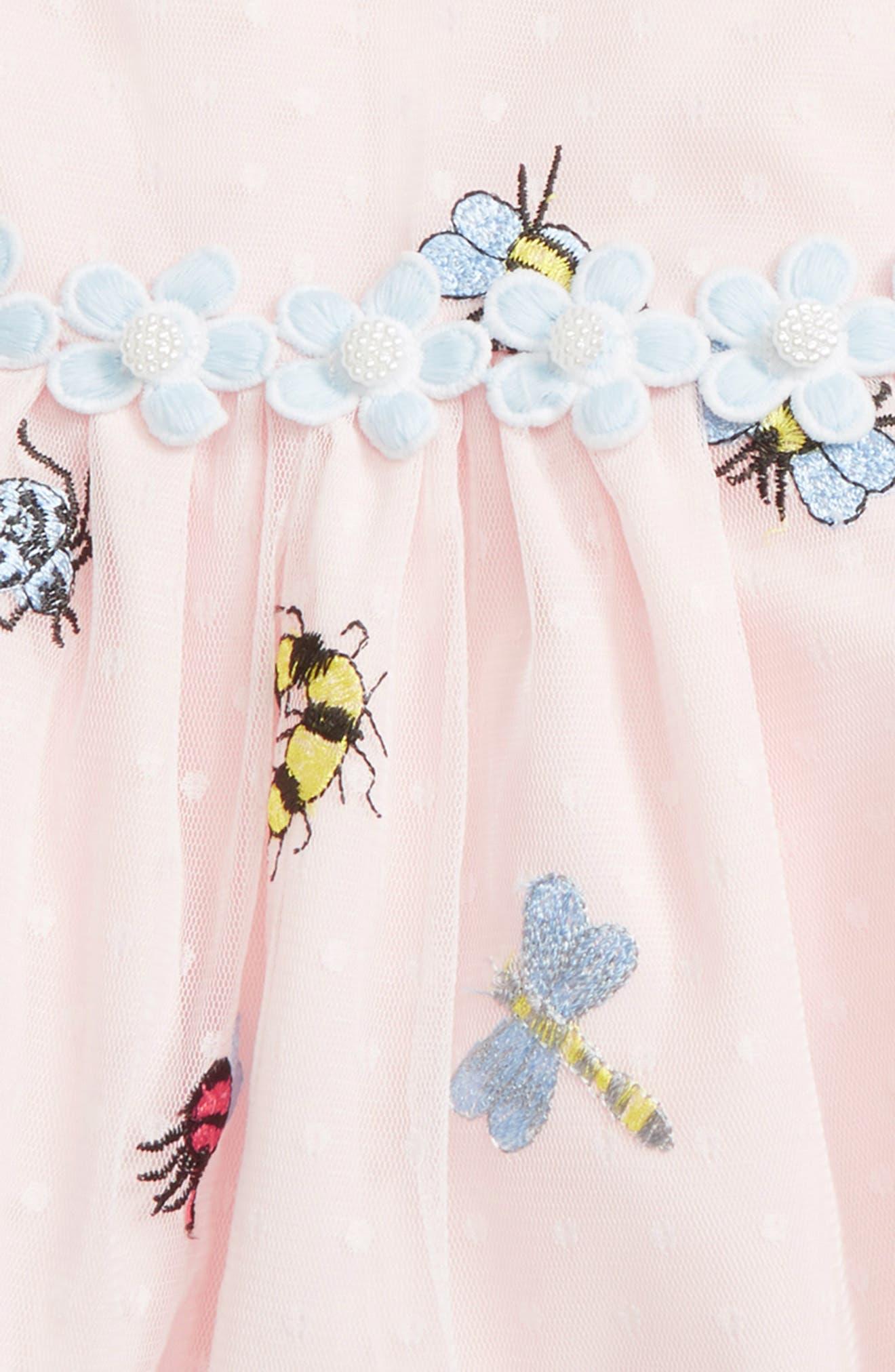 Mesh Bug Dress,                             Alternate thumbnail 3, color,                             650
