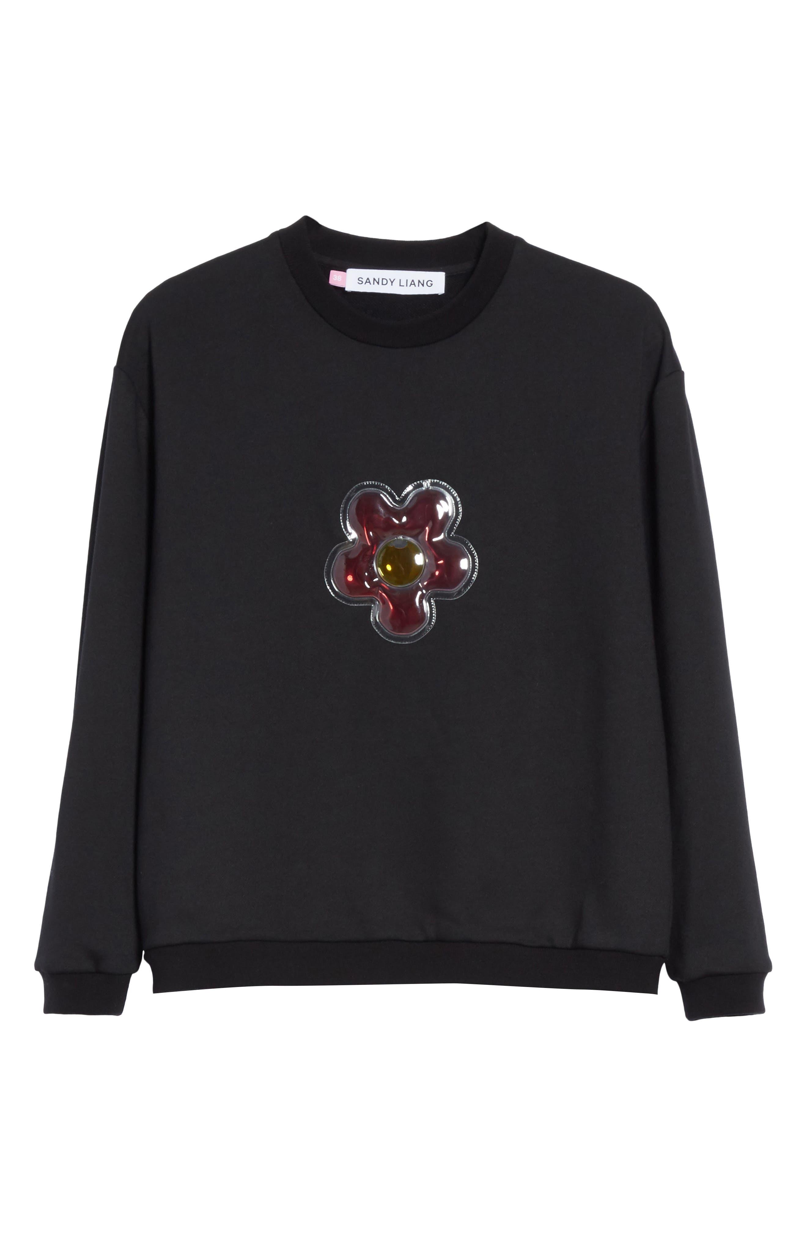 Barnacles Flower Sweatshirt,                             Alternate thumbnail 6, color,