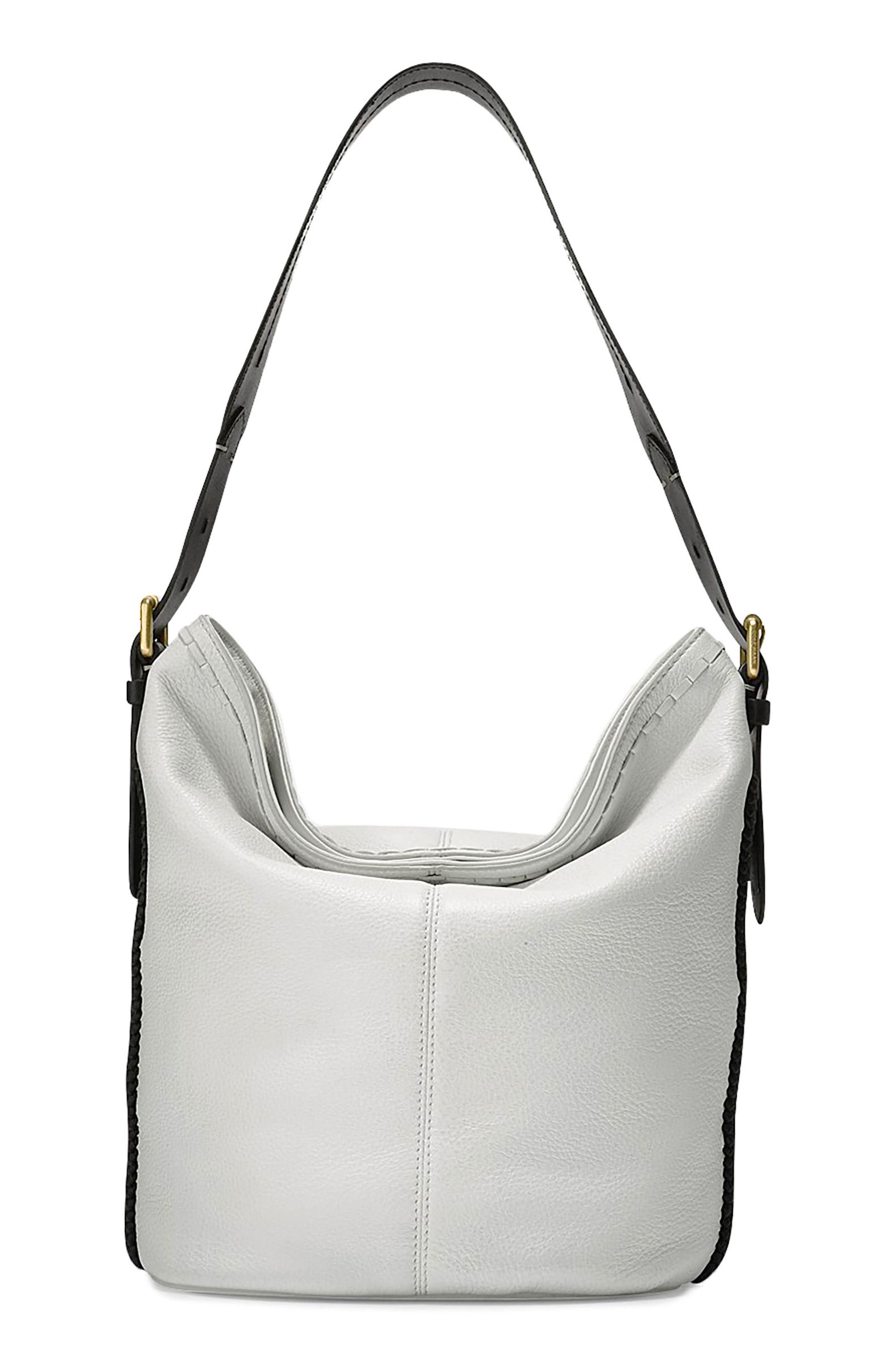 Loralie Whipstitch Leather Bucket Hobo,                         Main,                         color,