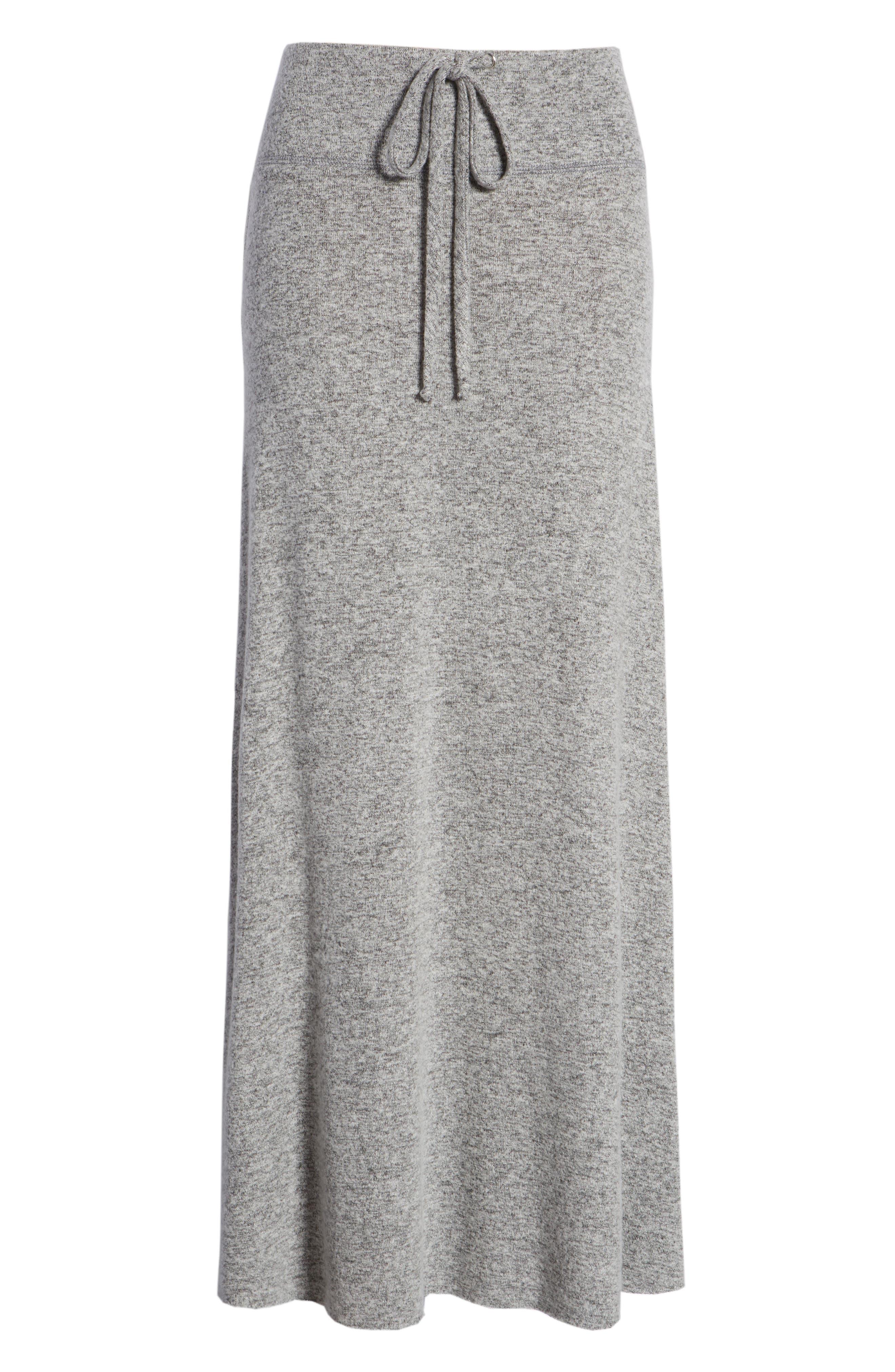Fleece Maxi Skirt,                             Alternate thumbnail 6, color,                             055