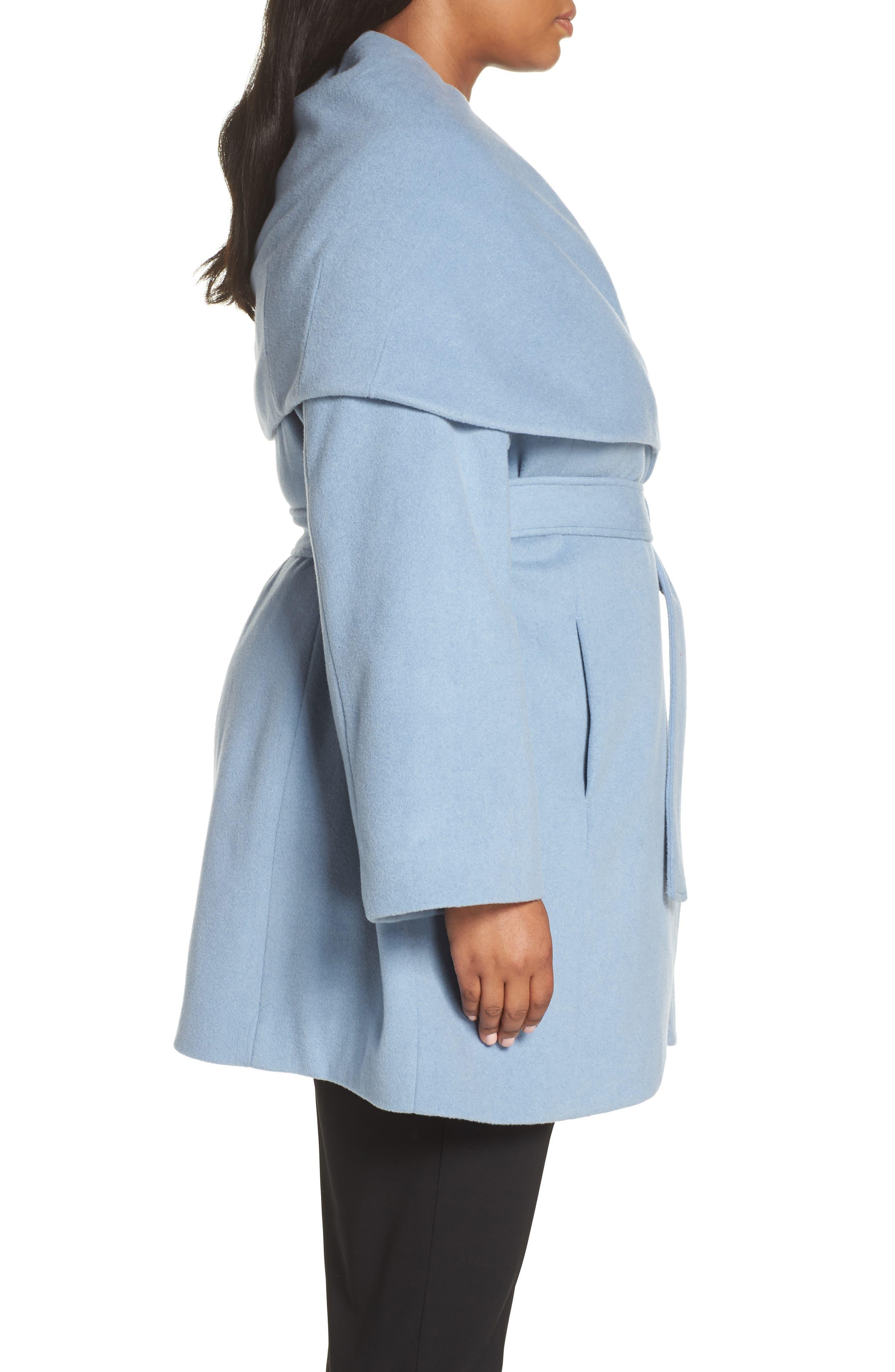 Marla Cutaway Wrap Coat with Oversize Collar,                             Alternate thumbnail 10, color,