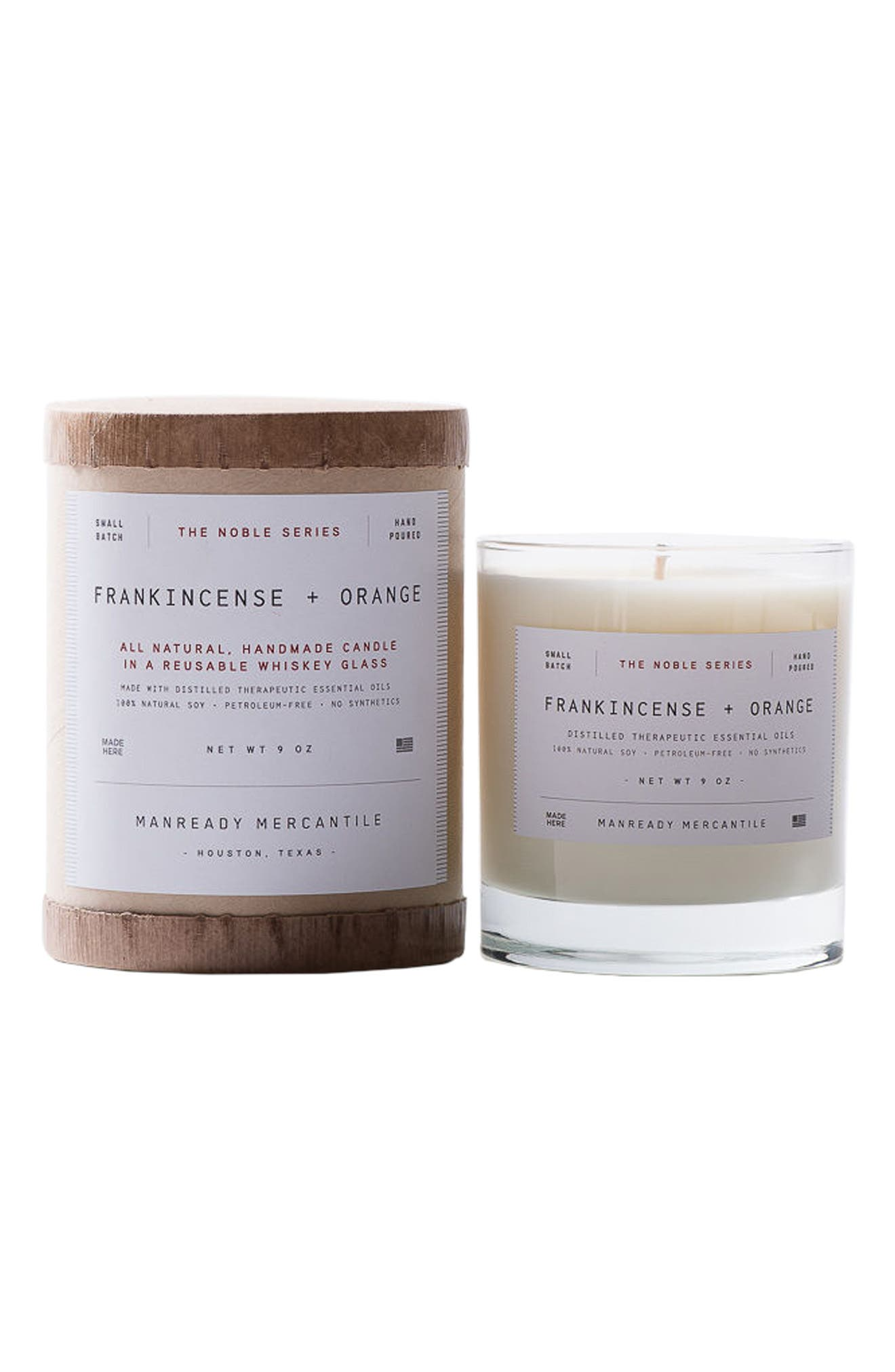 Noble Series Soy Candle,                             Main thumbnail 1, color,                             FRANKINCENSE AND ORANGE