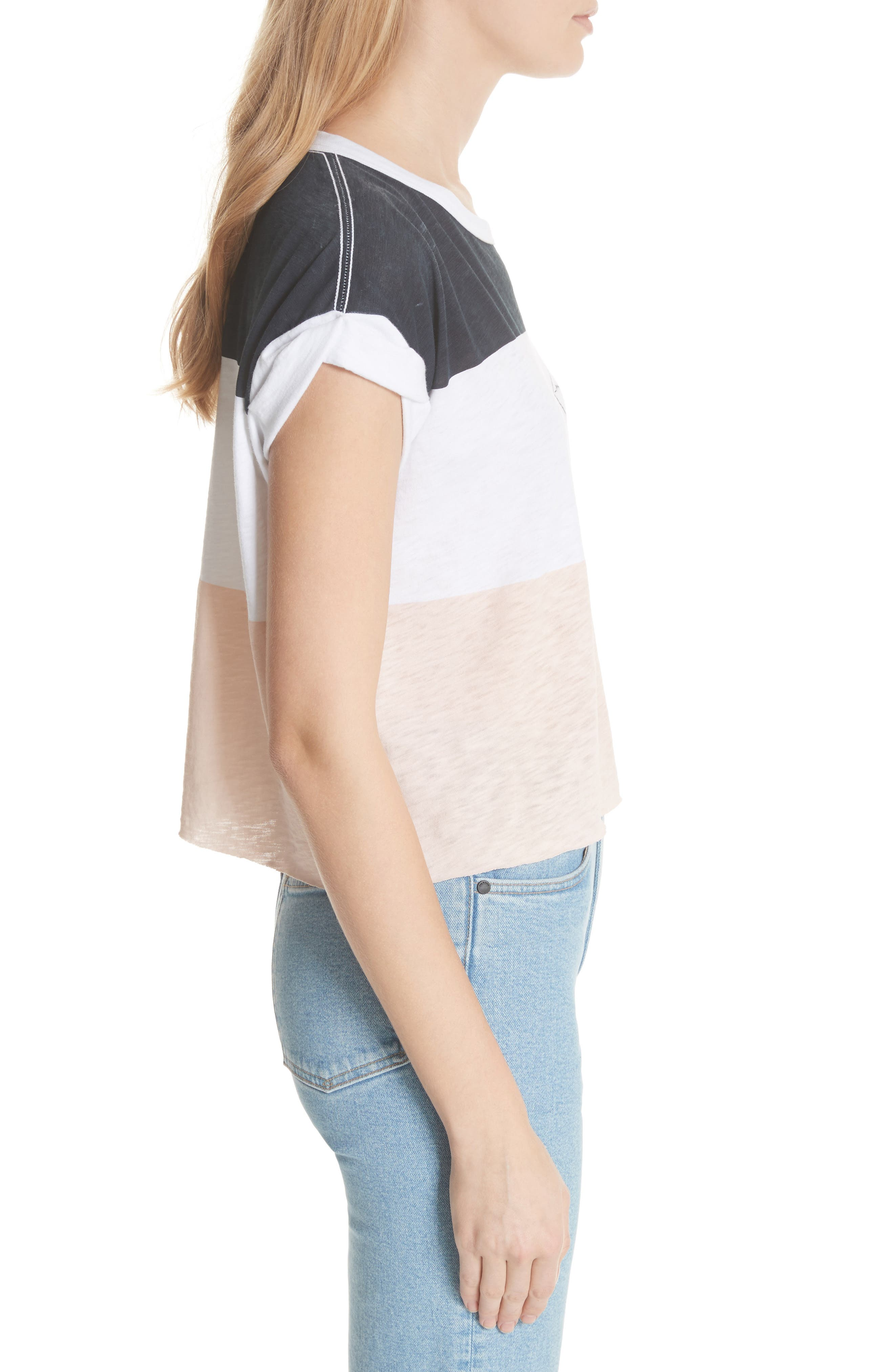 Percy Colorblock Muscle Tee,                             Alternate thumbnail 3, color,                             462