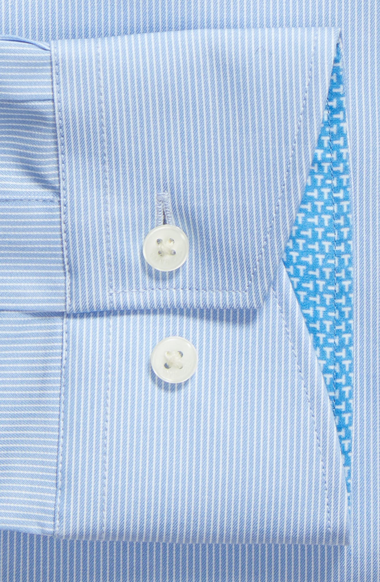 Nickoe Trim Fit Dress Shirt,                             Alternate thumbnail 6, color,                             BLUE