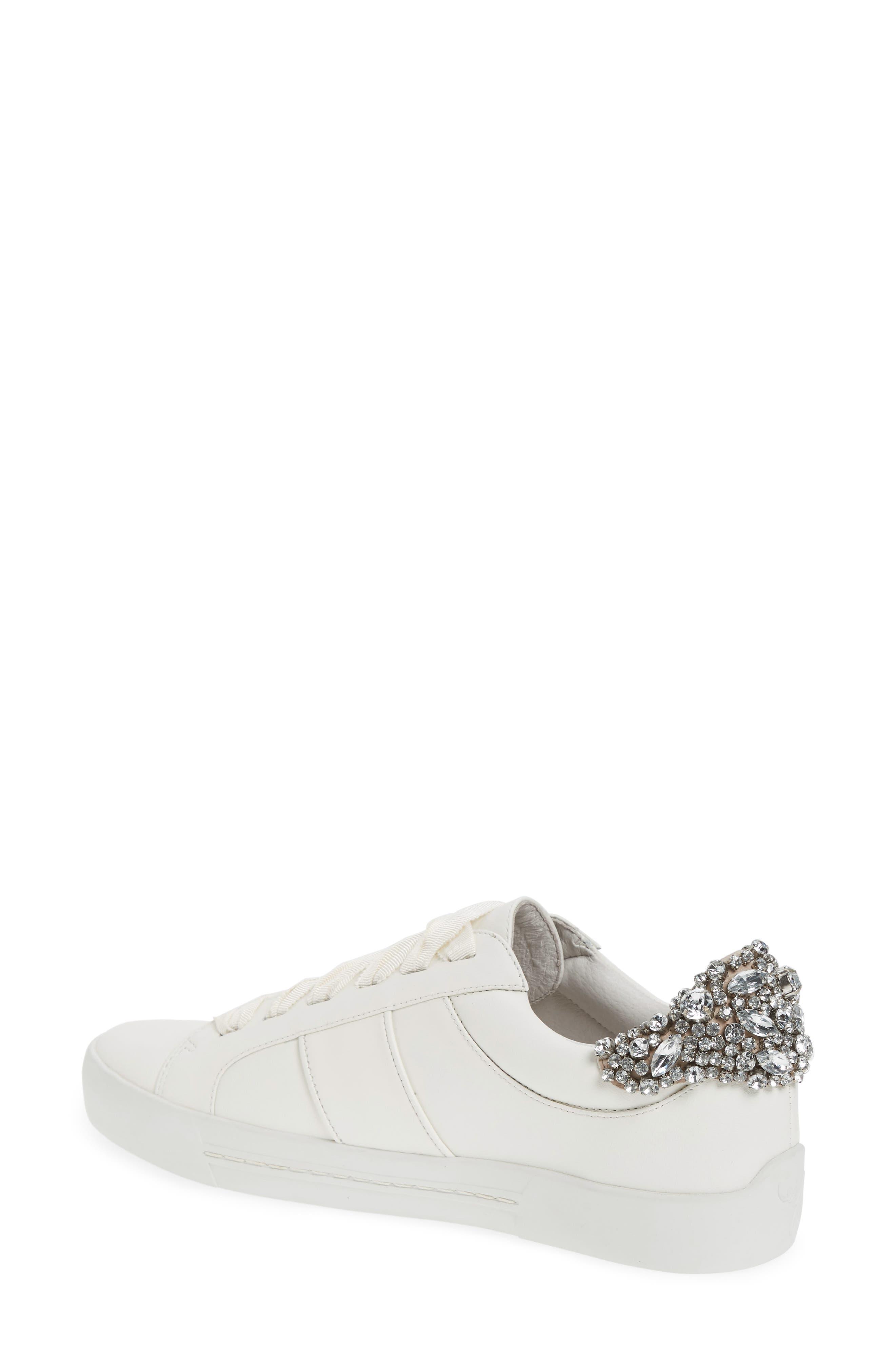 Darena Crystal Embellished Sneaker,                             Alternate thumbnail 4, color,