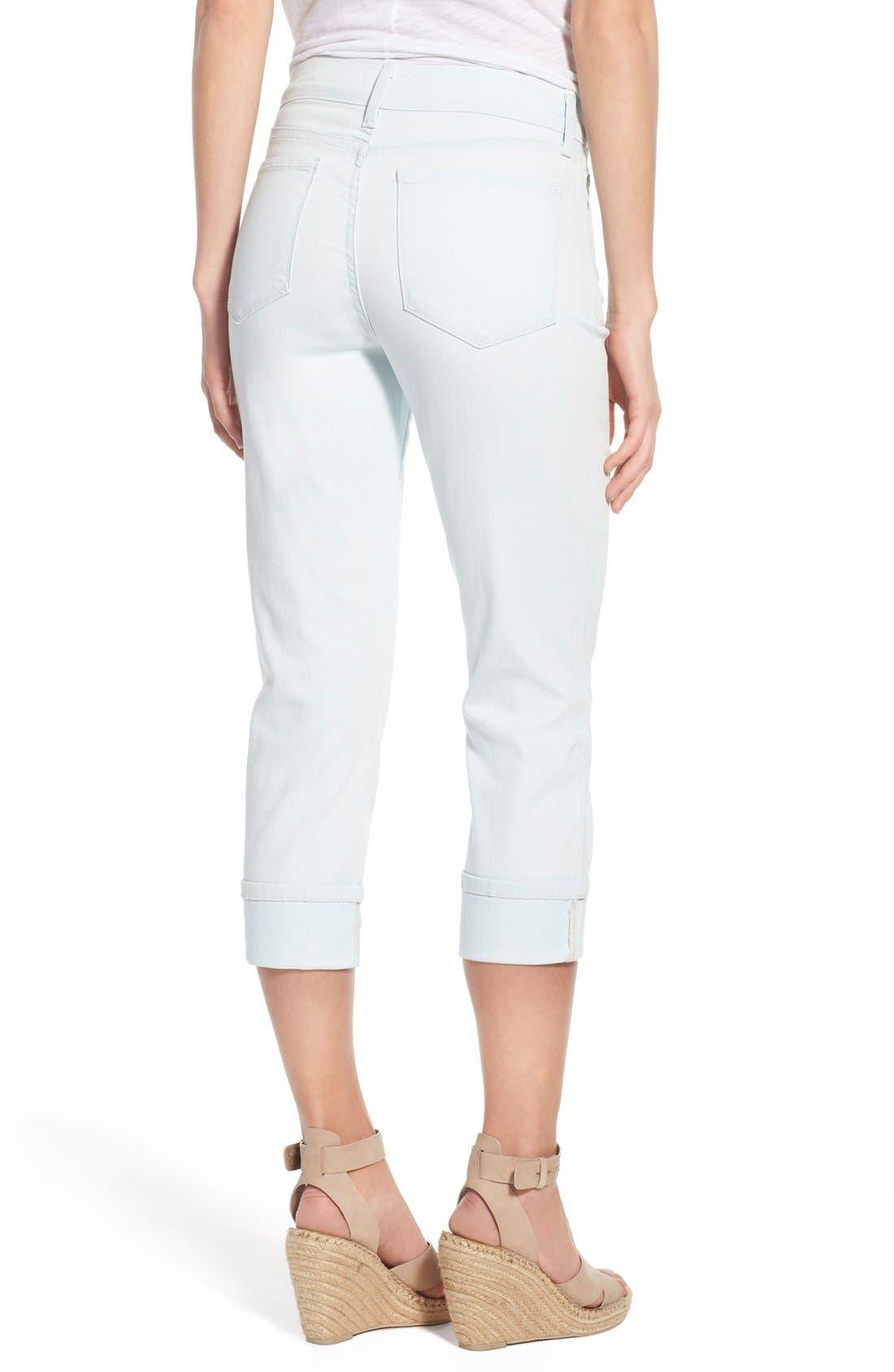 'Dayla' Colored Wide Cuff Capri Jeans,                             Alternate thumbnail 41, color,