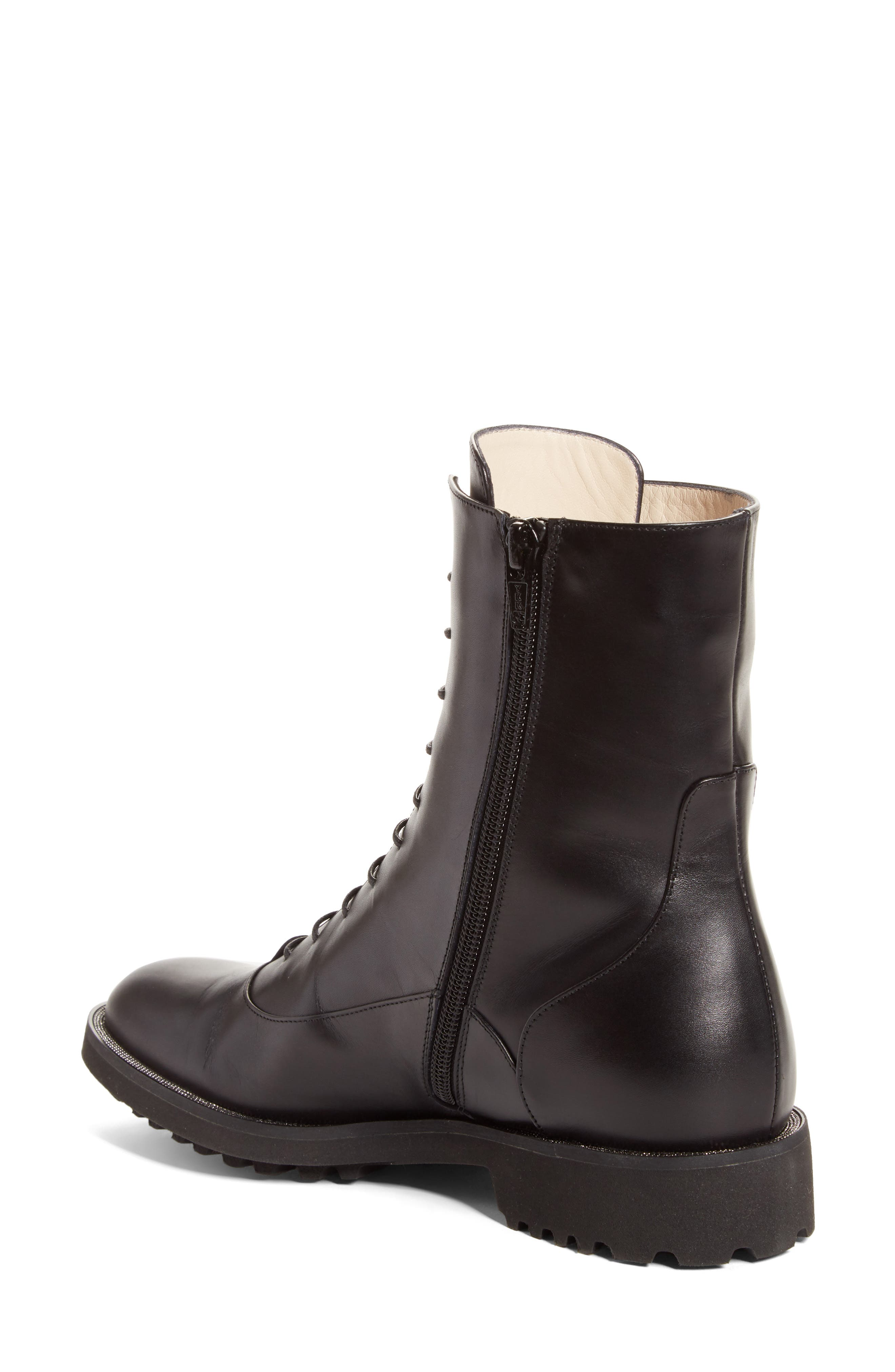 Ludovica Combat Boot,                             Alternate thumbnail 2, color,                             001