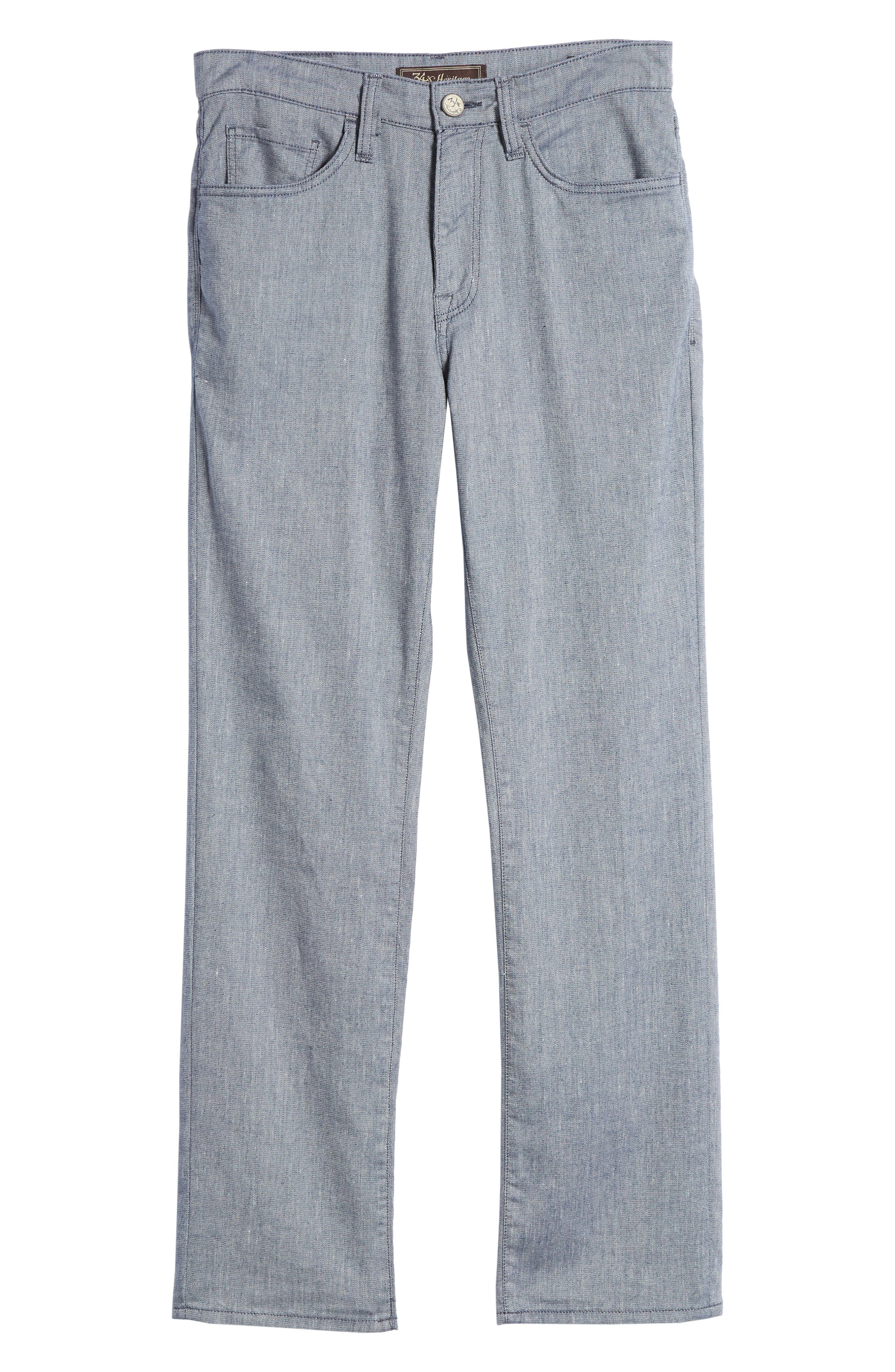 Charisma Relaxed Fit Pants,                             Alternate thumbnail 6, color,                             INDIGO TEXTURED