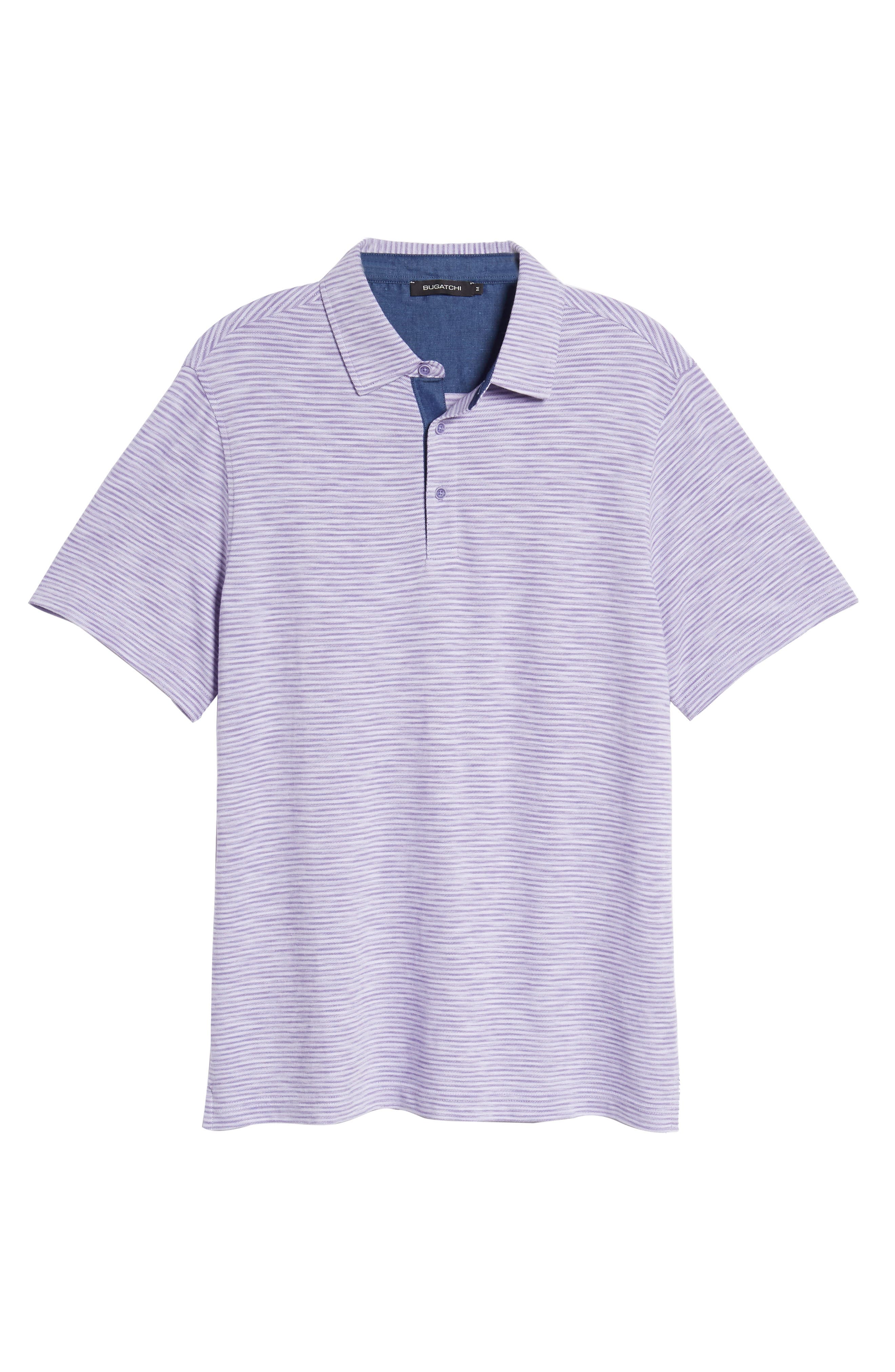 Marled Stripe Polo,                             Alternate thumbnail 6, color,                             ORCHID