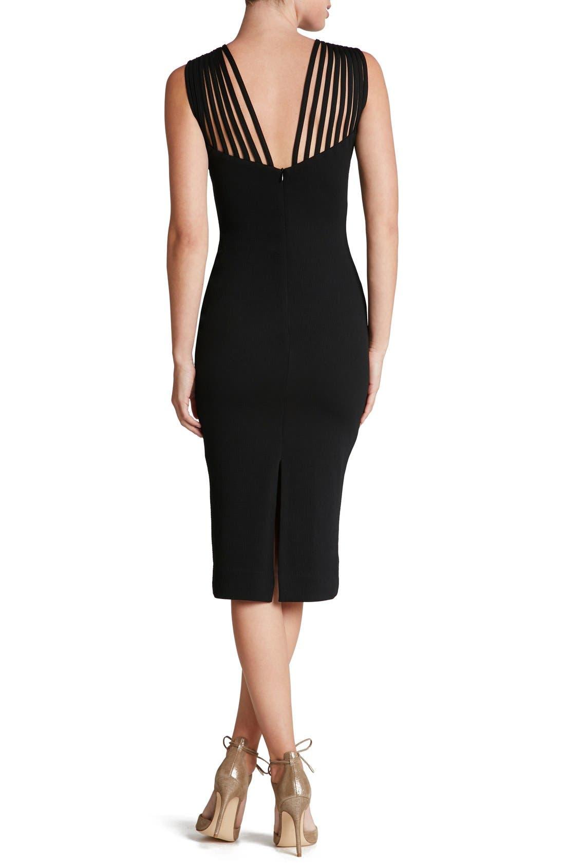 Gwen Midi Dress,                             Alternate thumbnail 2, color,                             001