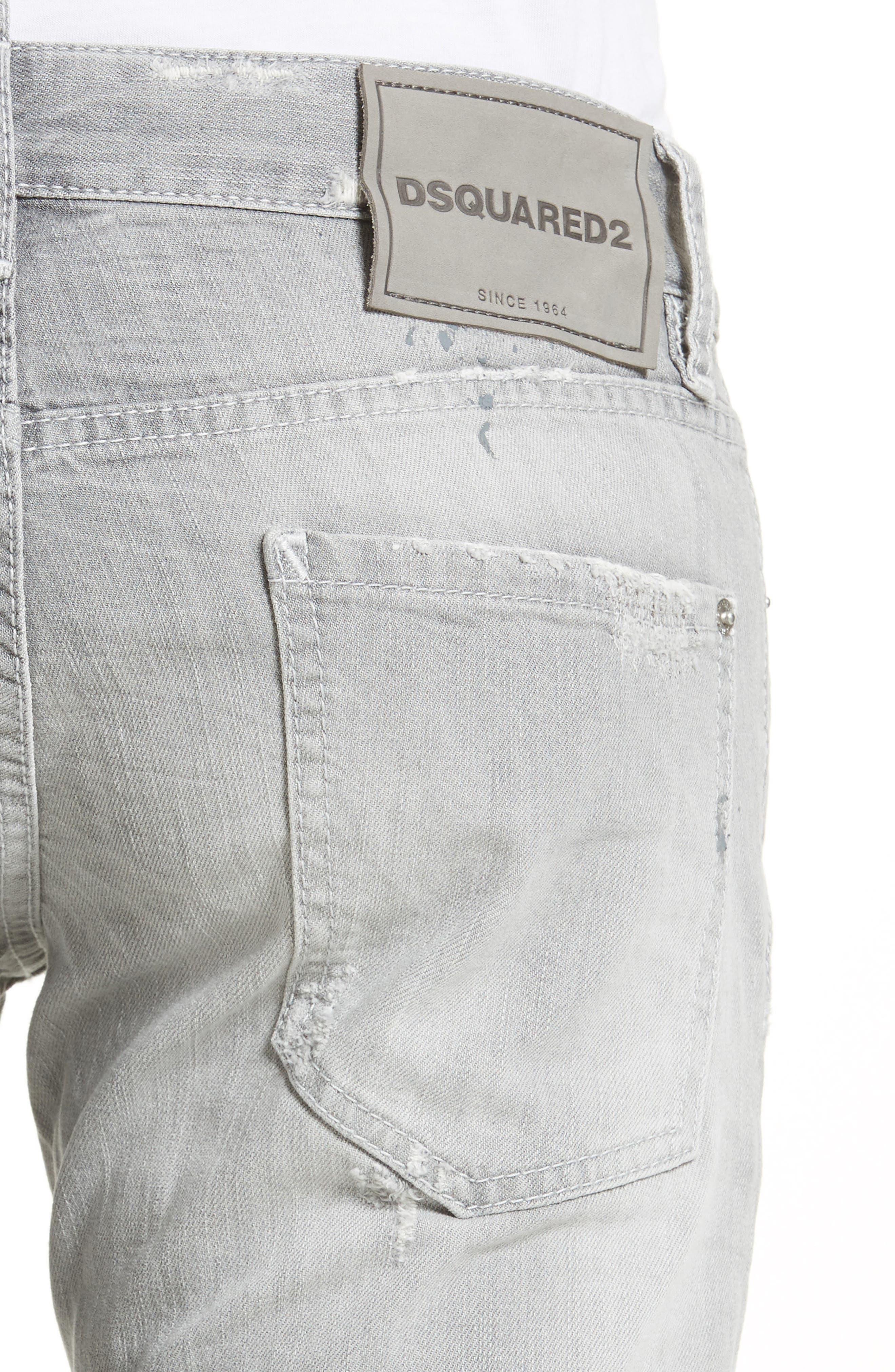 Grey Slim Fit Jeans,                             Alternate thumbnail 4, color,                             051