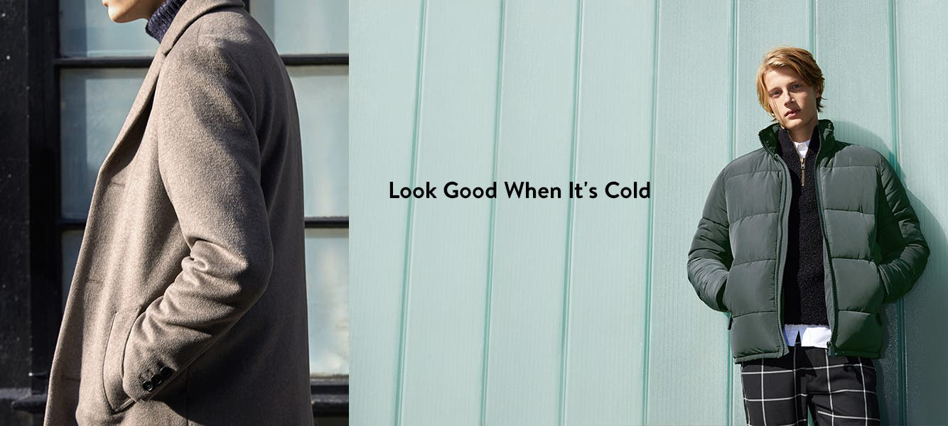 Look good when it's cold: clothing for men from Topman.