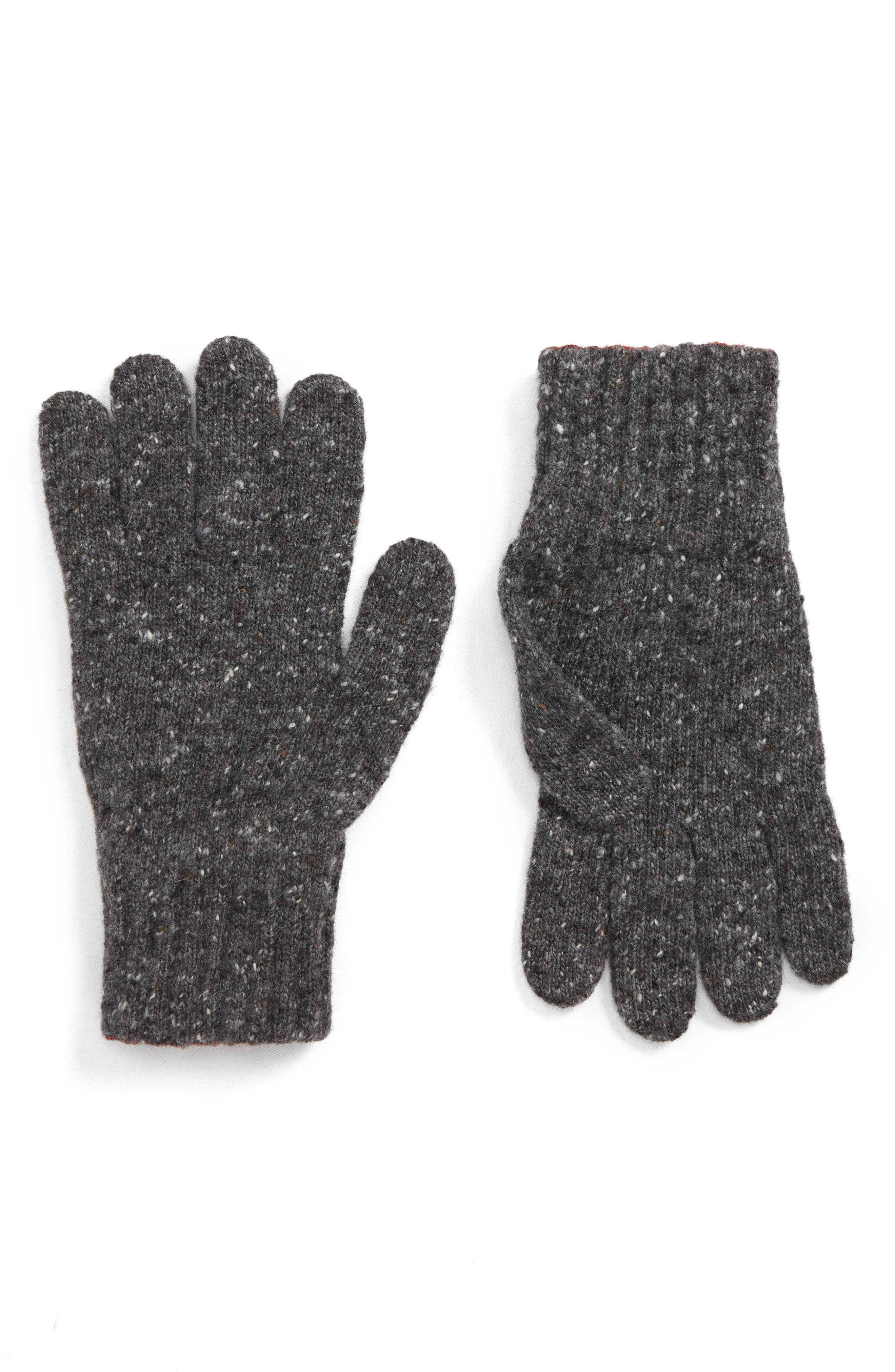 Donegal Wool Gloves,                         Main,                         color, CHARCOAL