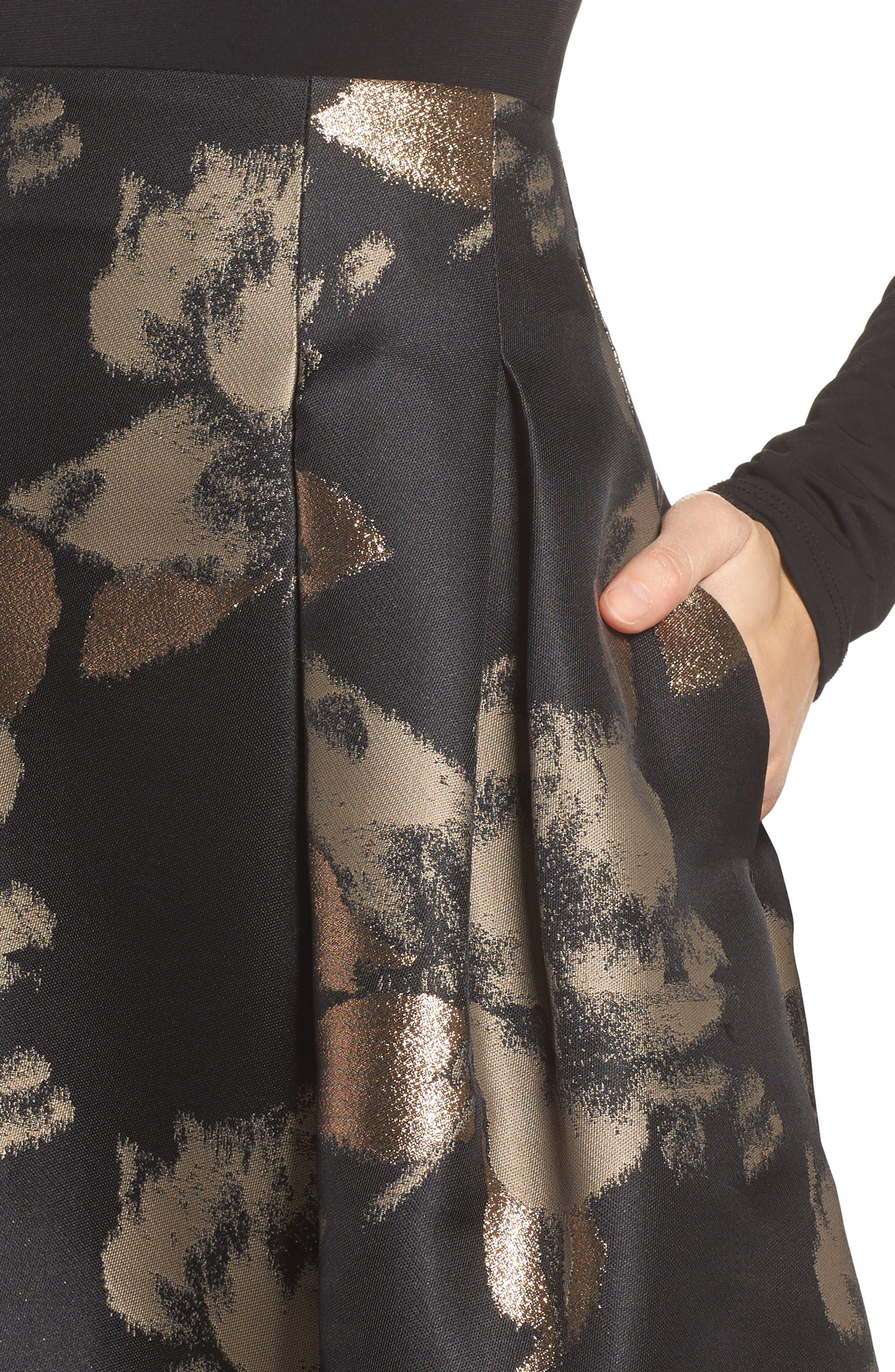 High Waist Ball Skirt,                             Alternate thumbnail 4, color,                             008