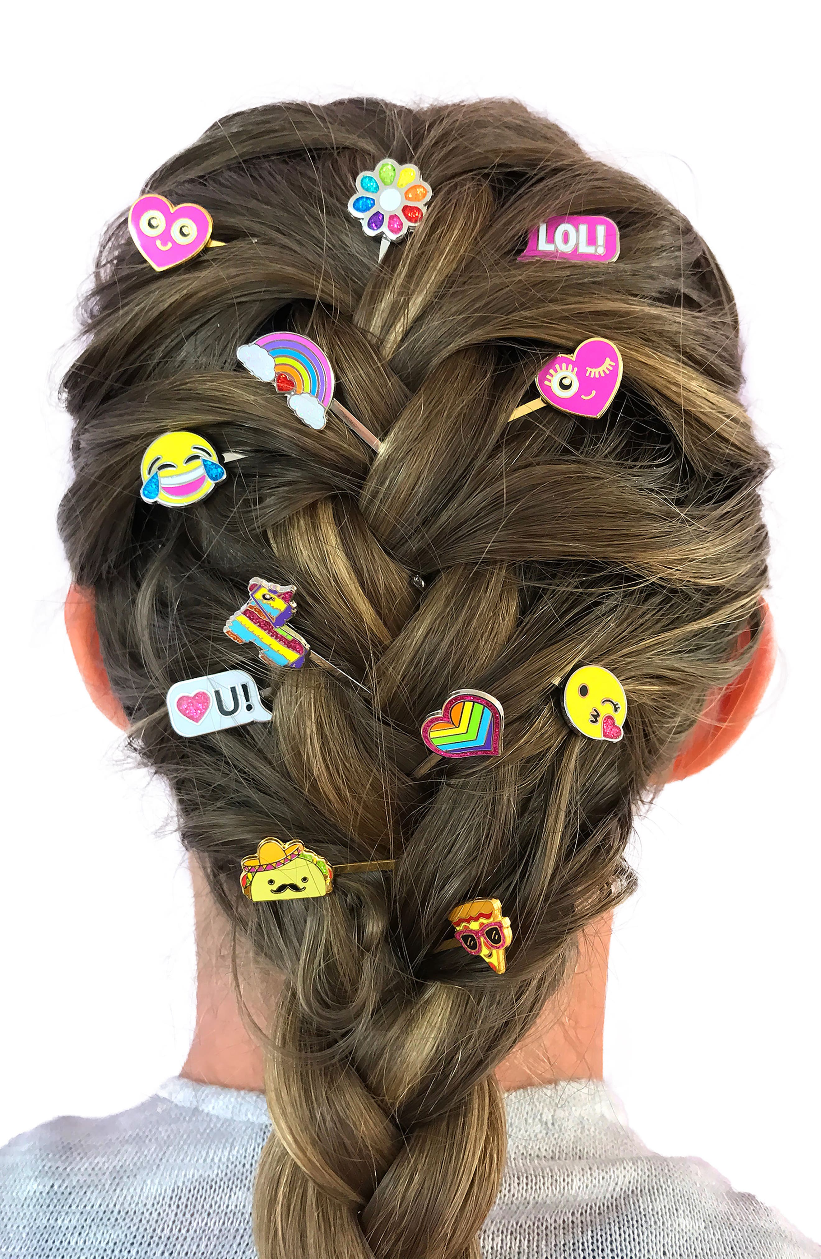 CHARM IT!<sup>®</sup> Party 6-Pack Rainbow Bobby Pins,                             Alternate thumbnail 4, color,