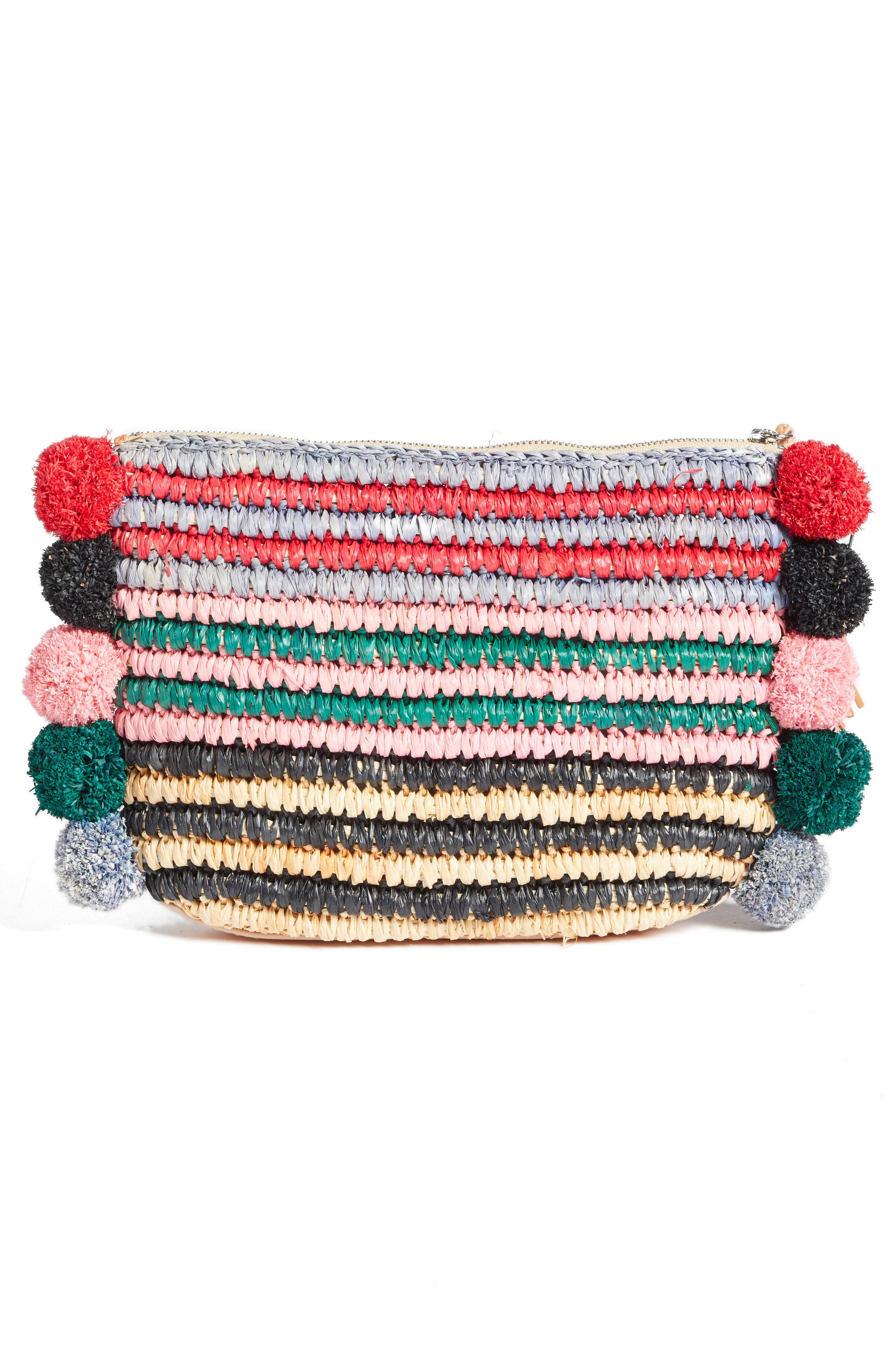 Straw Tassel Pouch,                             Alternate thumbnail 12, color,