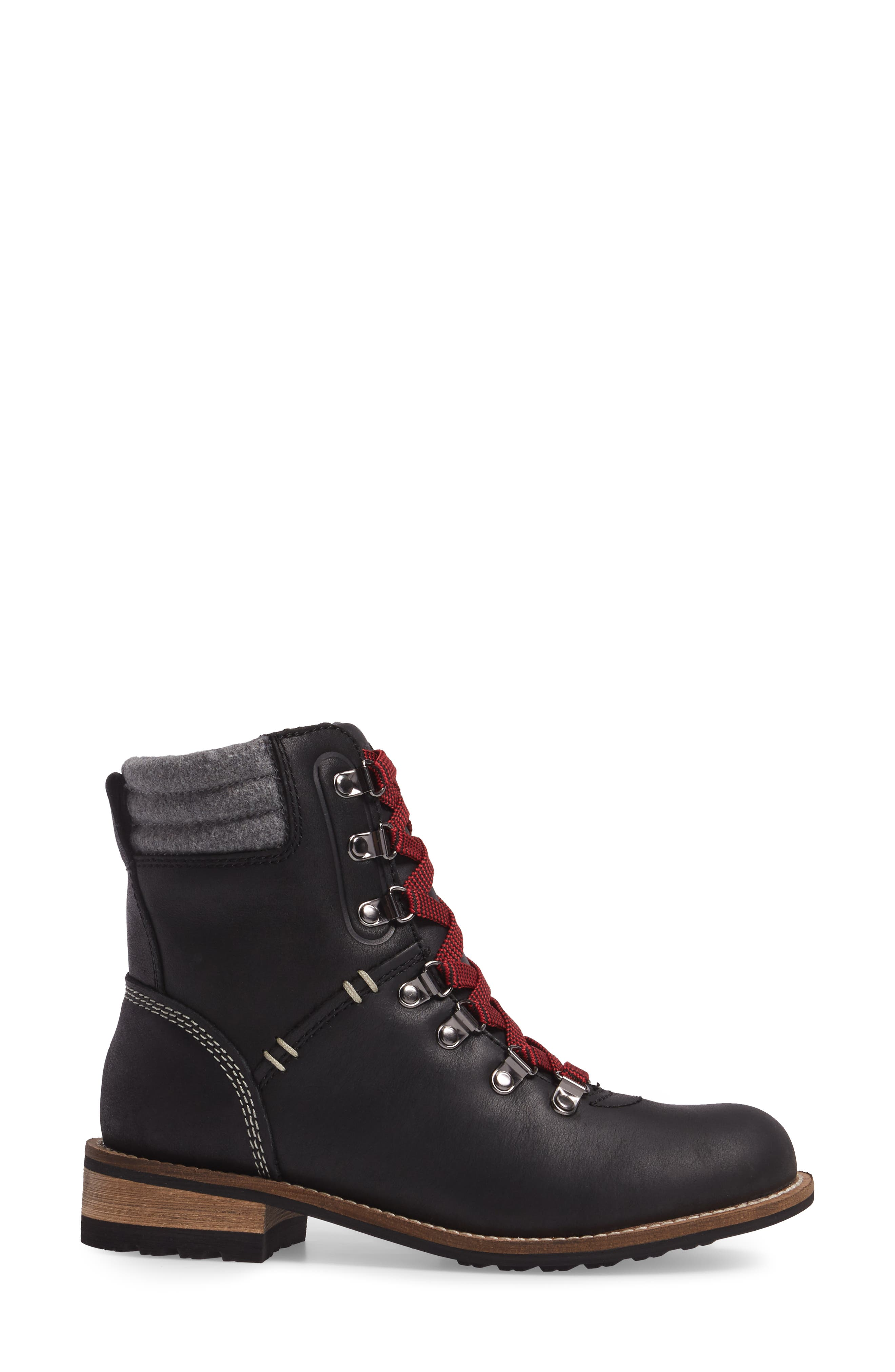 Surrey II Waterproof Boot,                             Alternate thumbnail 3, color,                             BLACK LEATHER