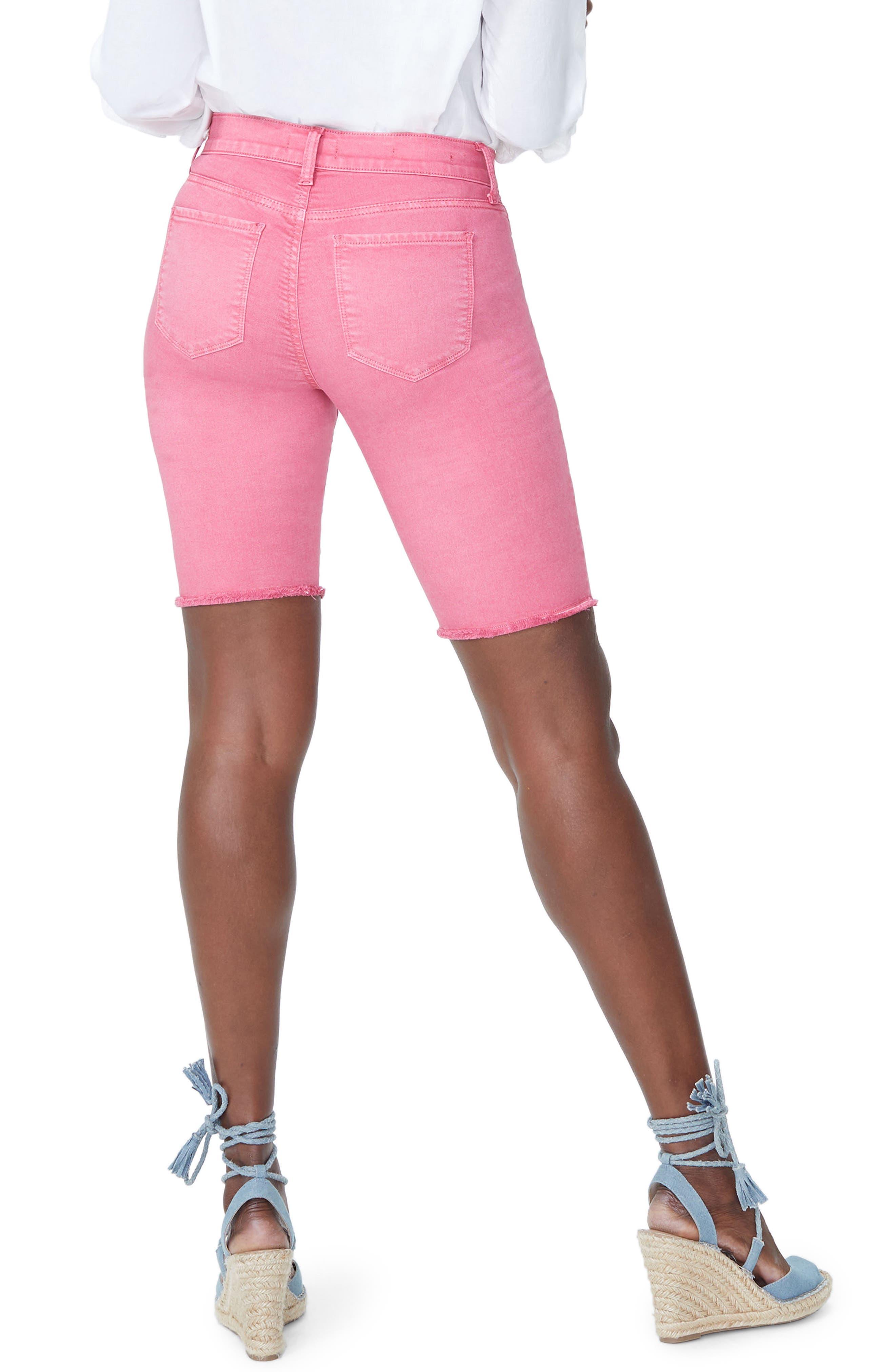Briella Frayed Hem Bermuda Shorts,                             Alternate thumbnail 10, color,
