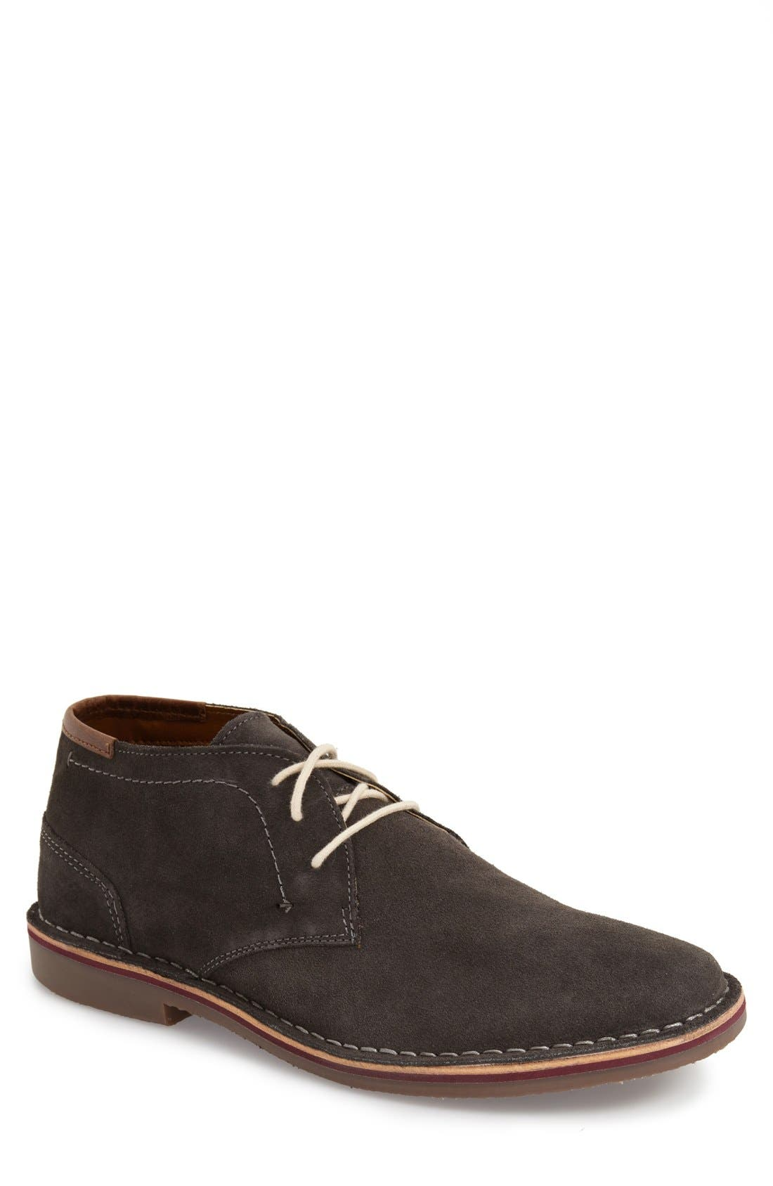 'Desert Sun' Chukka Boot,                             Main thumbnail 1, color,                             DARK GREY SUEDE