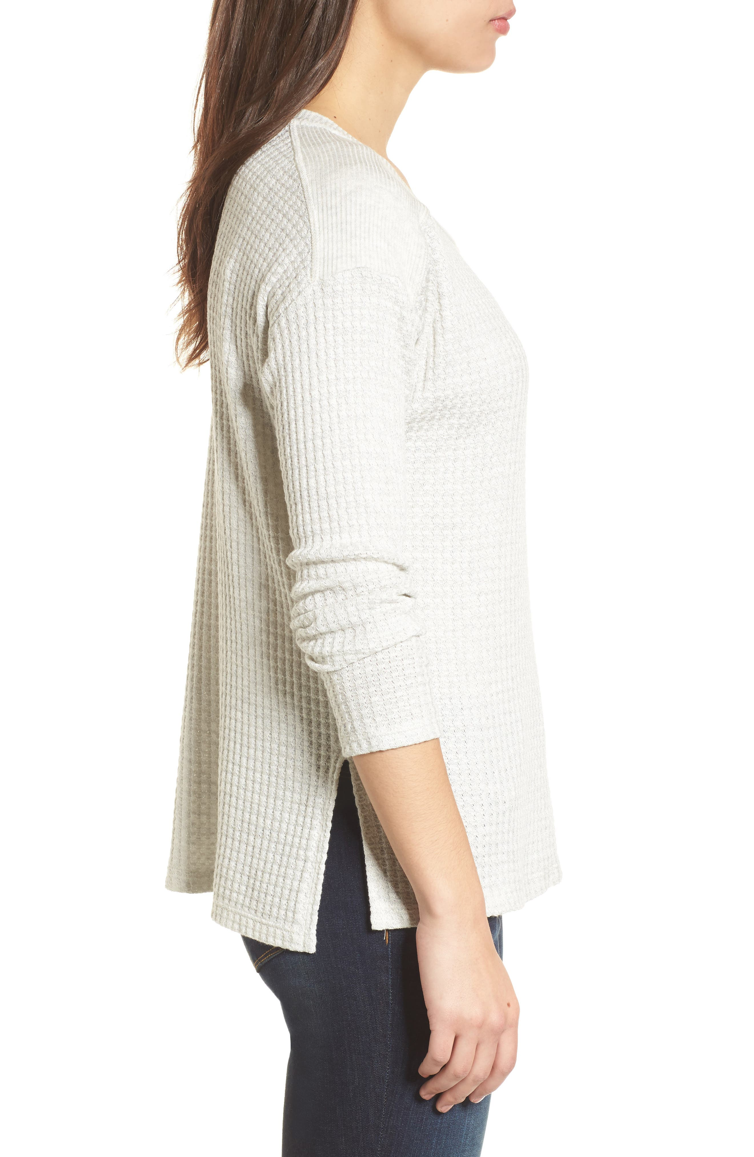 Thermal Knit Top,                             Alternate thumbnail 3, color,