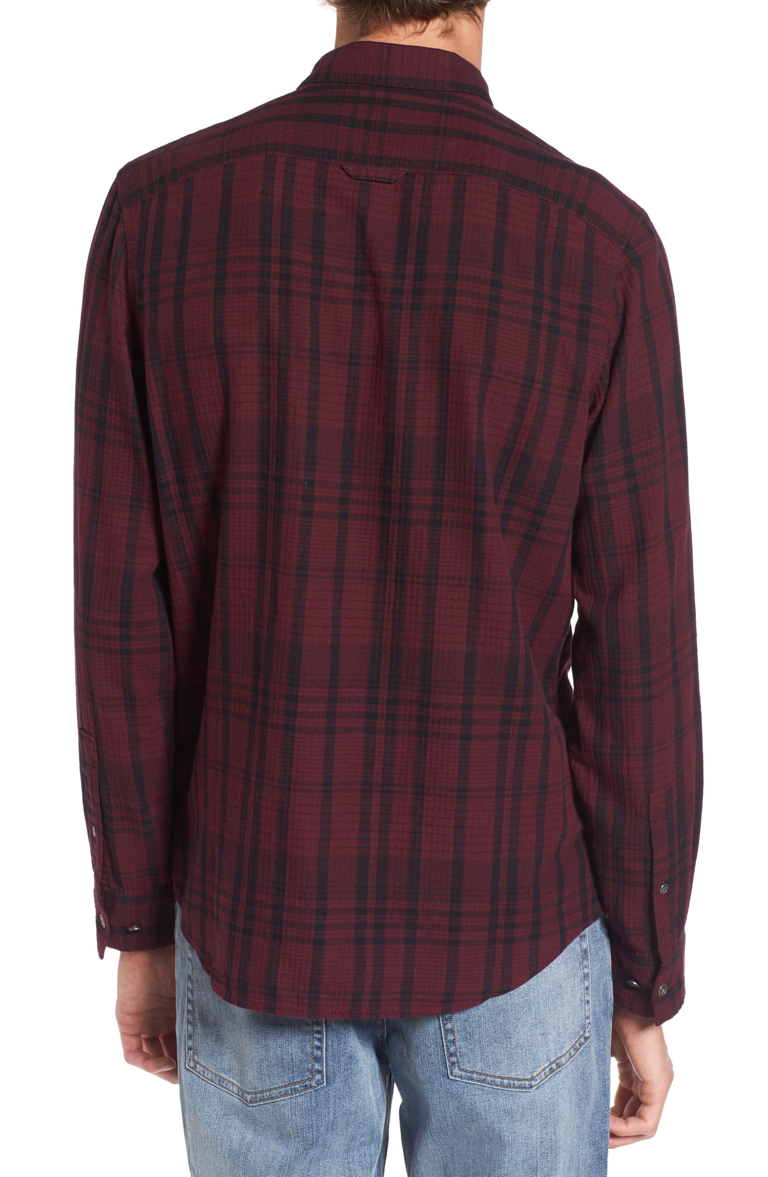 Hooper Plaid Sport Shirt,                             Alternate thumbnail 4, color,
