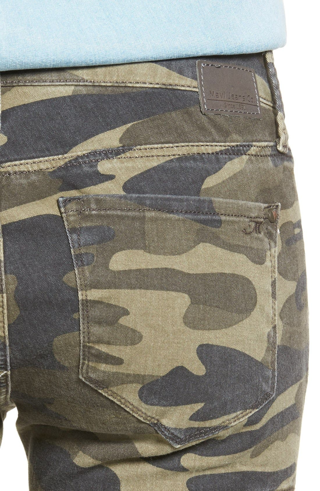 Juliette Camo Print Military Cargo Pants,                             Alternate thumbnail 5, color,                             MILITARY CAMOUFLAGE