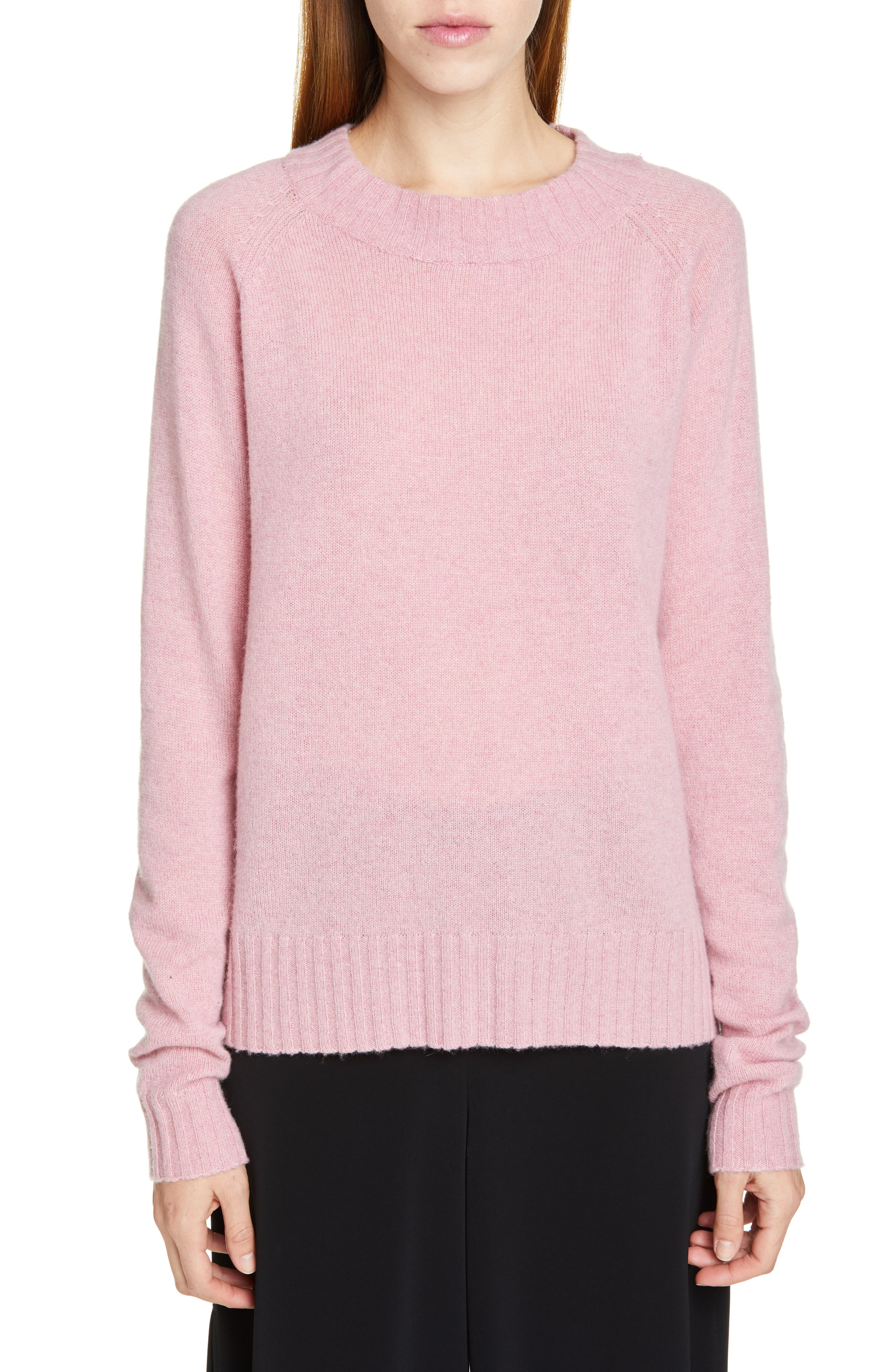 Cashmere Sweater,                             Main thumbnail 1, color,                             PINK