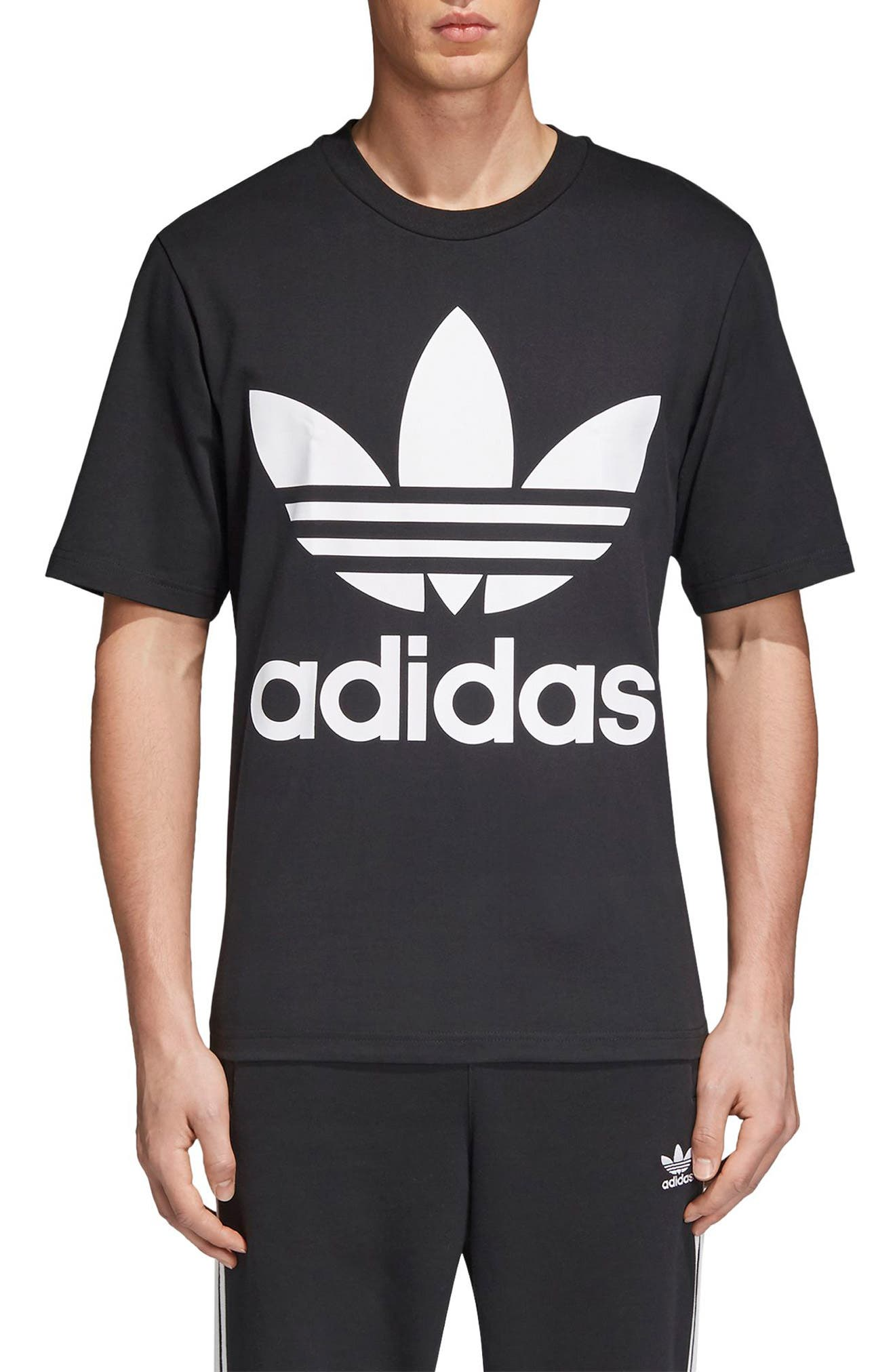 Adidas Originals Oversize Logo T-Shirt, Black