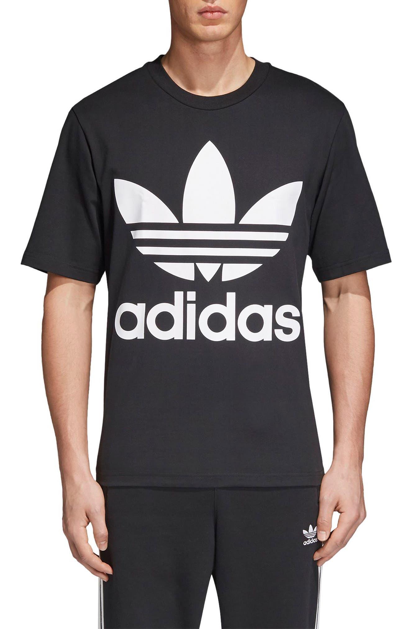 Oversize Logo T-Shirt,                         Main,                         color, BLACK