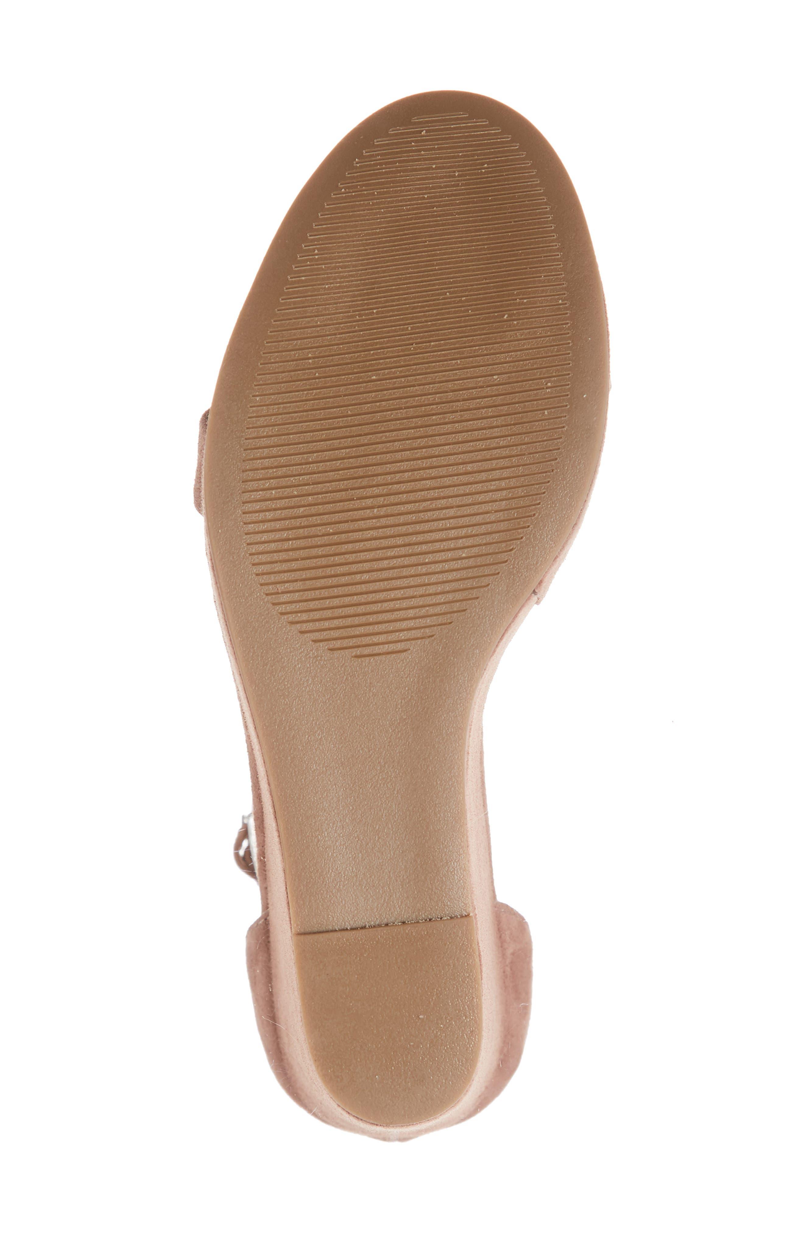 Succeed Platform Wedge Sandal,                             Alternate thumbnail 6, color,                             TAN SUEDE