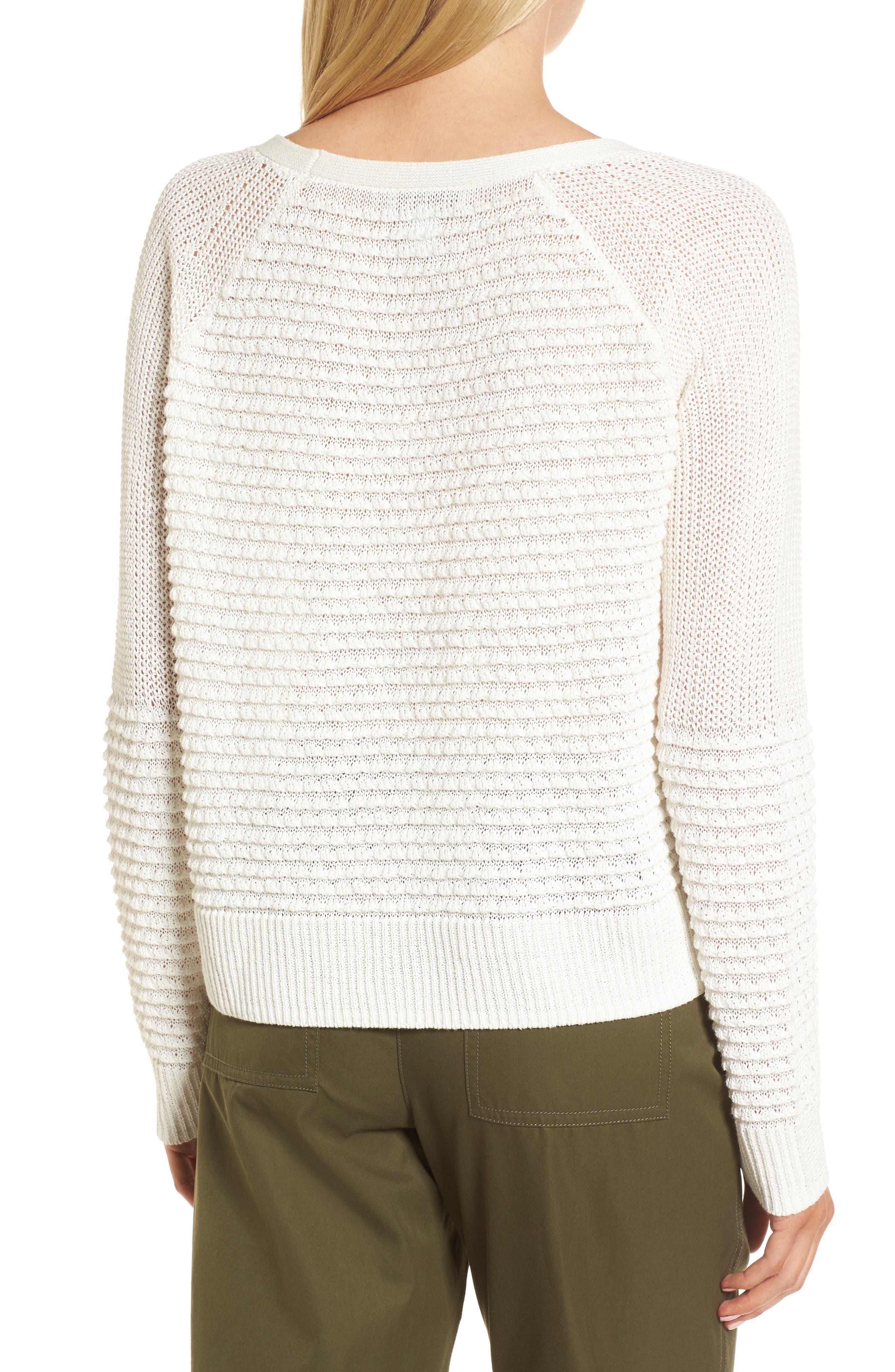 Mixed Stitch Sweater,                             Alternate thumbnail 4, color,