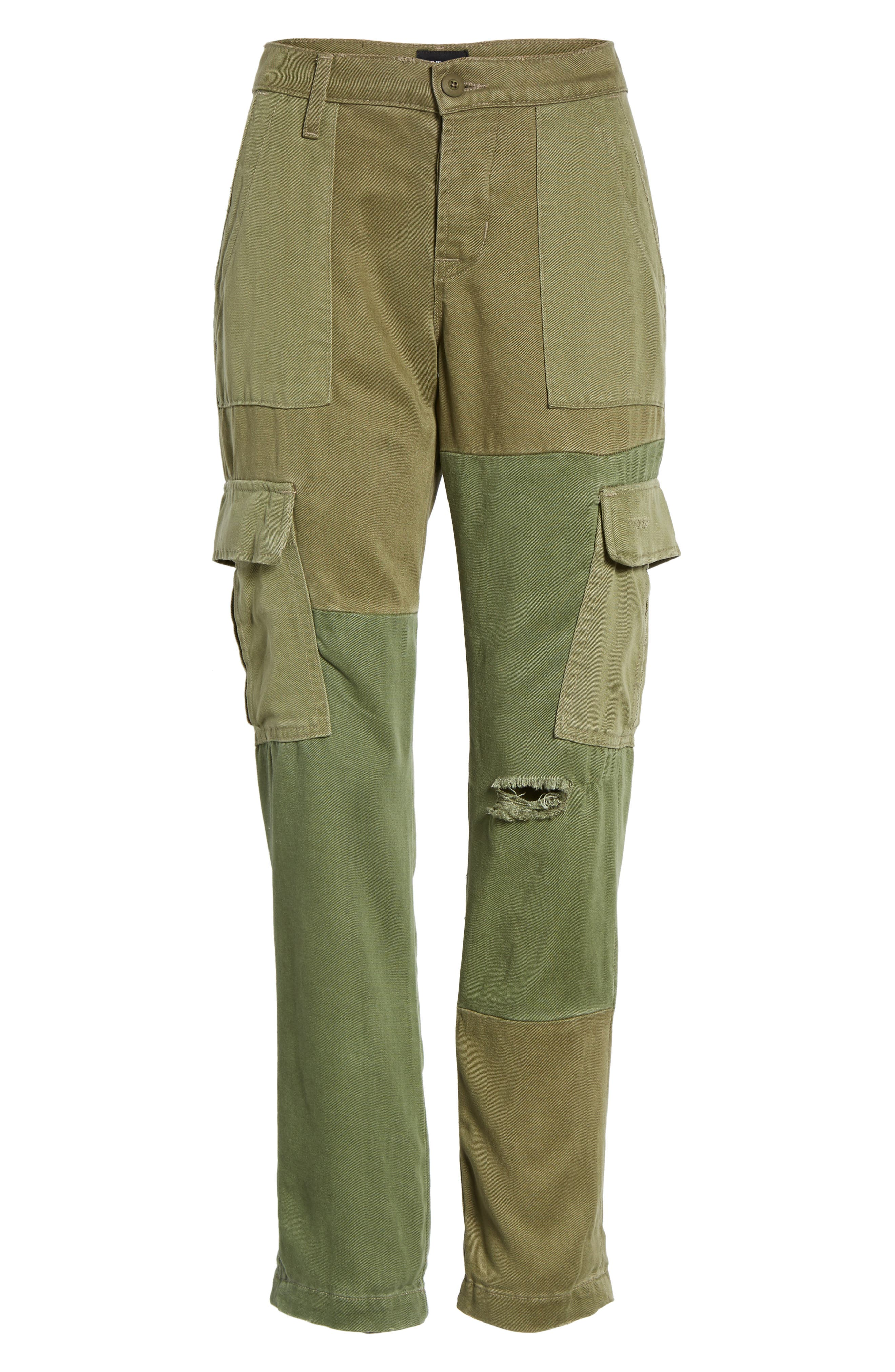 Riley Straight Leg Cargo Pants,                             Alternate thumbnail 6, color,                             340