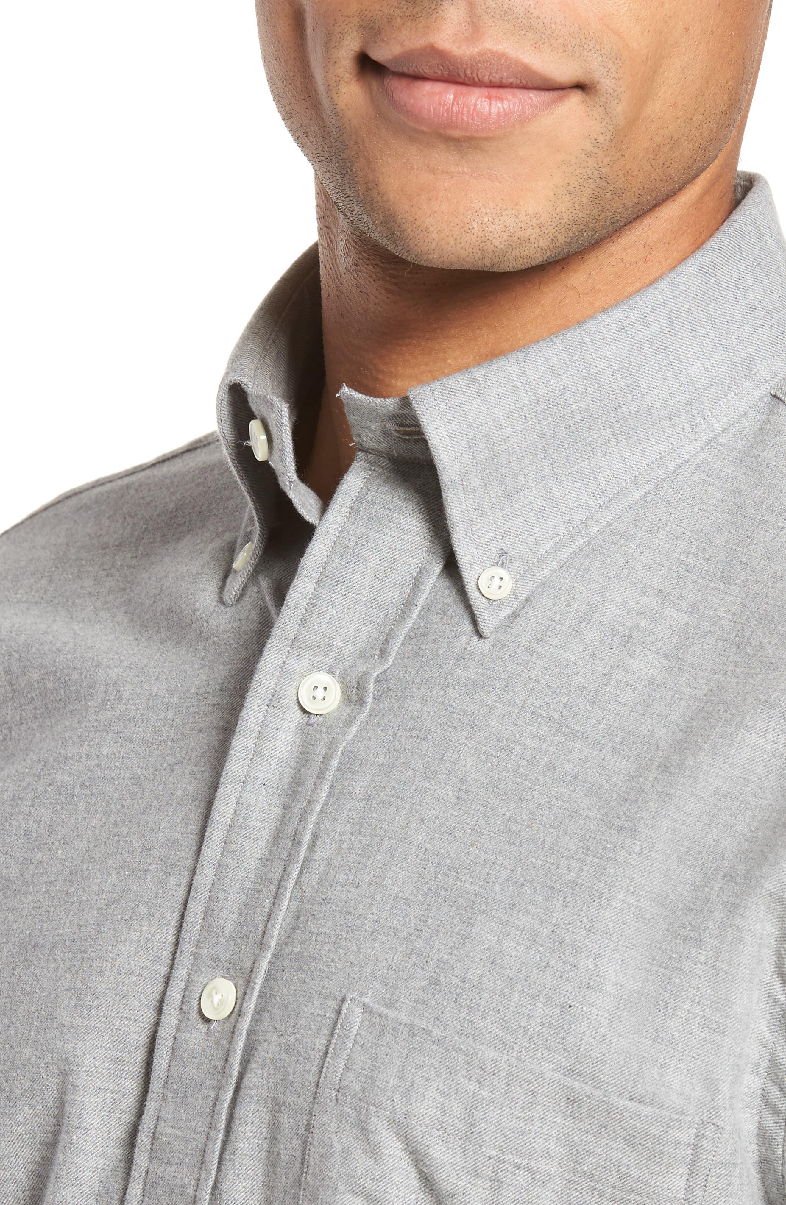 Slim Fit Sport Shirt,                             Alternate thumbnail 4, color,