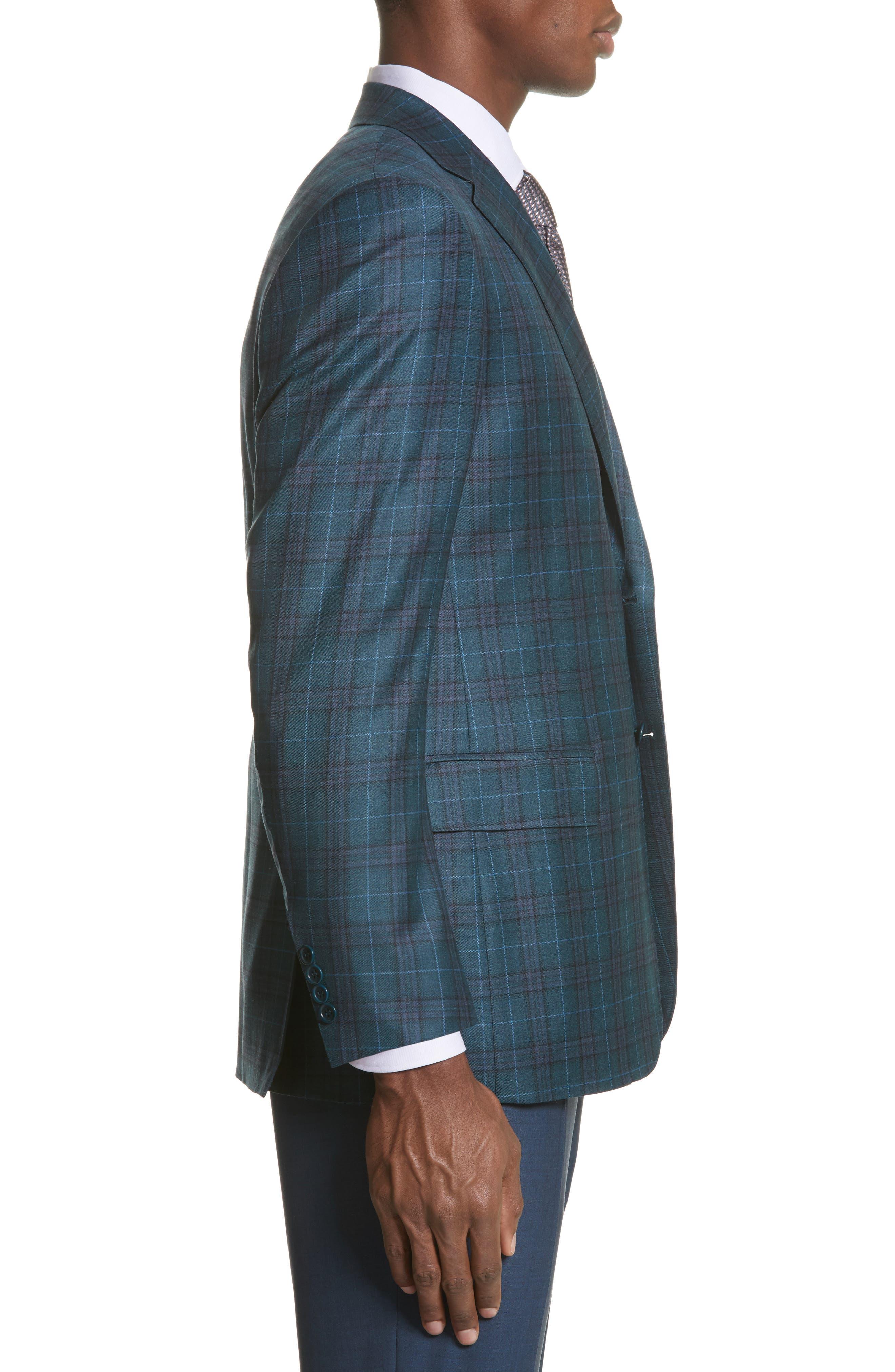 Classic Fit Plaid Wool Sport Coat,                             Alternate thumbnail 3, color,                             301