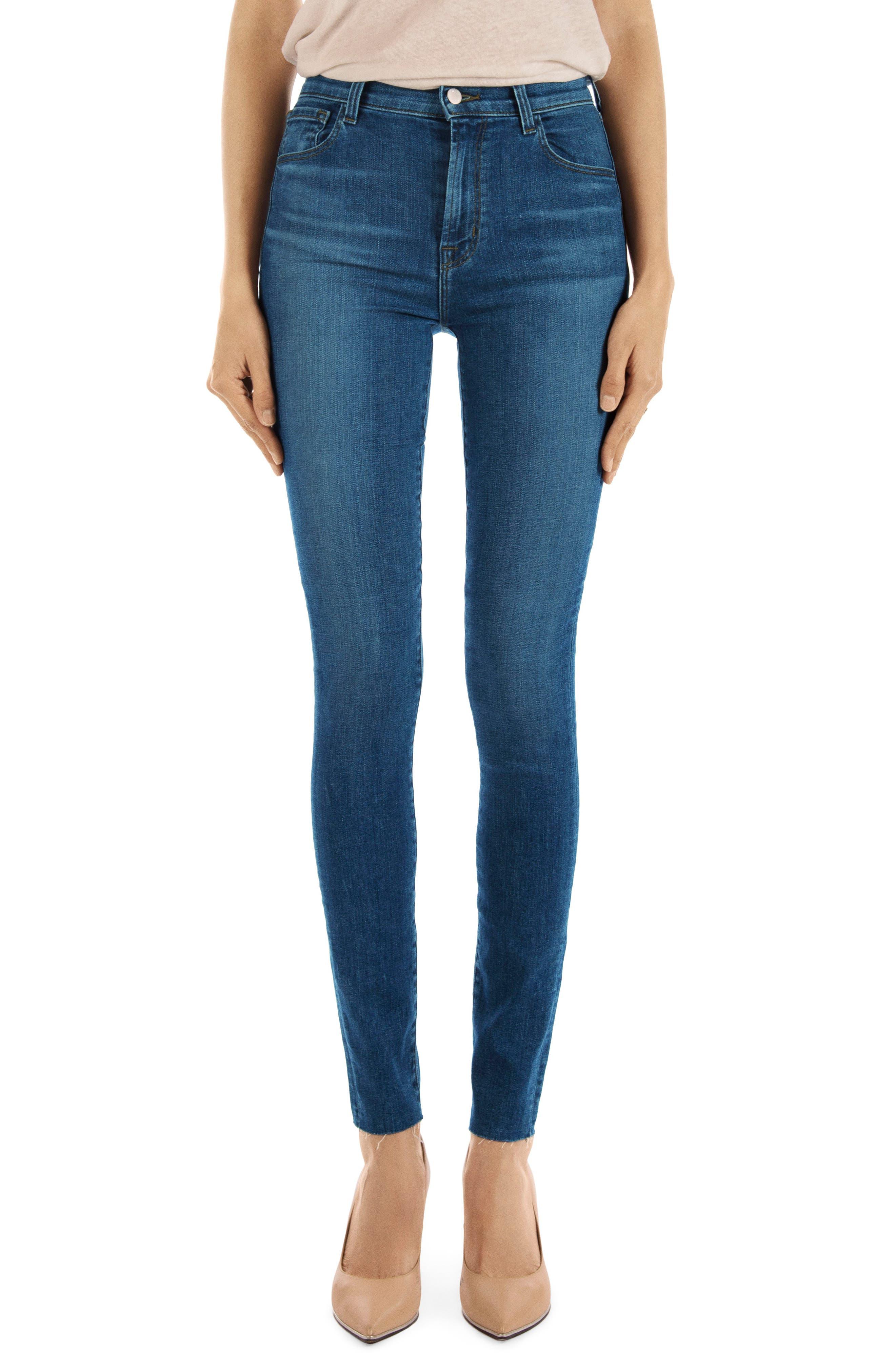 Carolina Super High Waist Skinny Jeans,                             Main thumbnail 1, color,                             LOVESICK