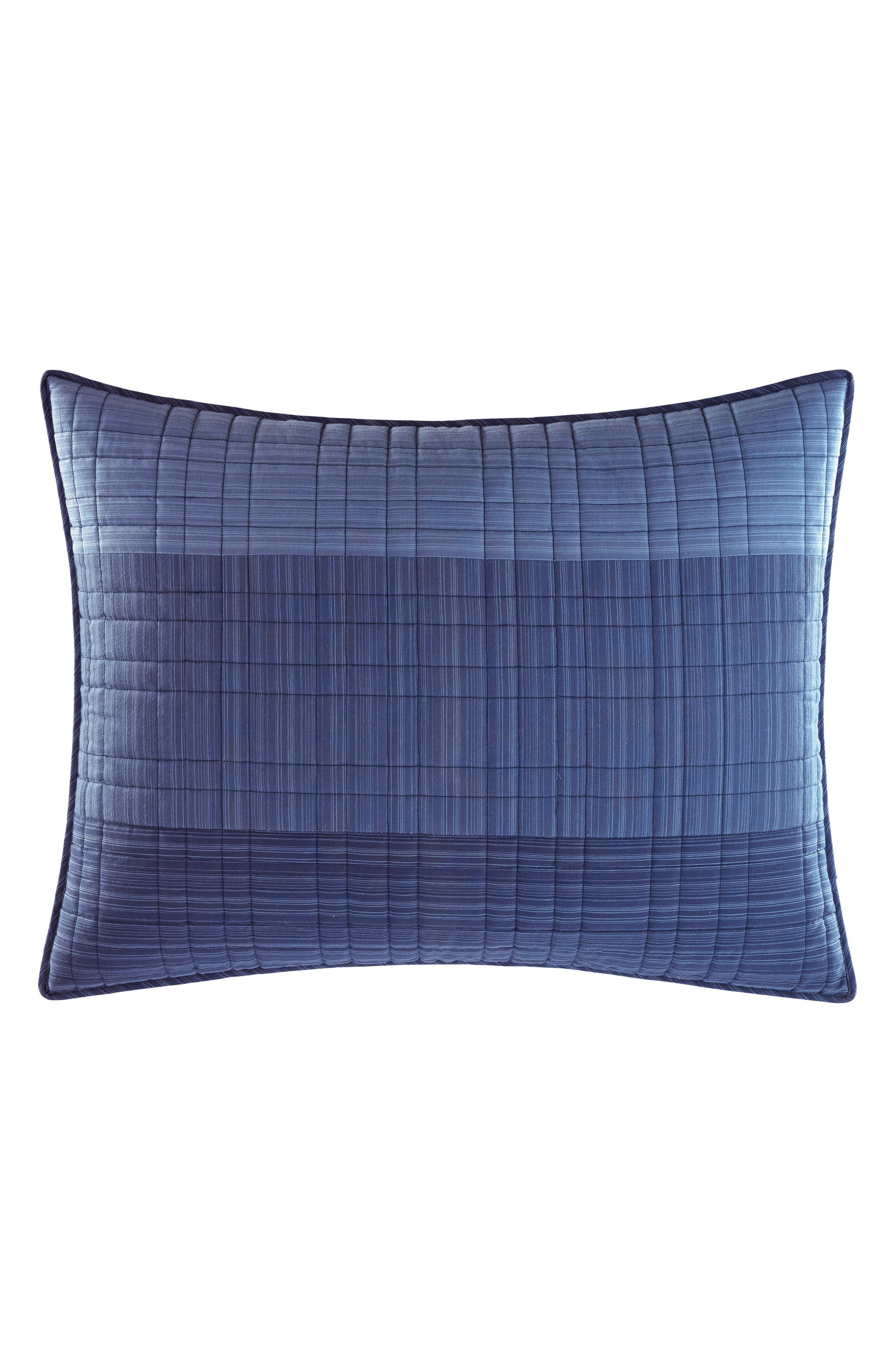 Riverview Quilted Sham,                         Main,                         color, BLUE
