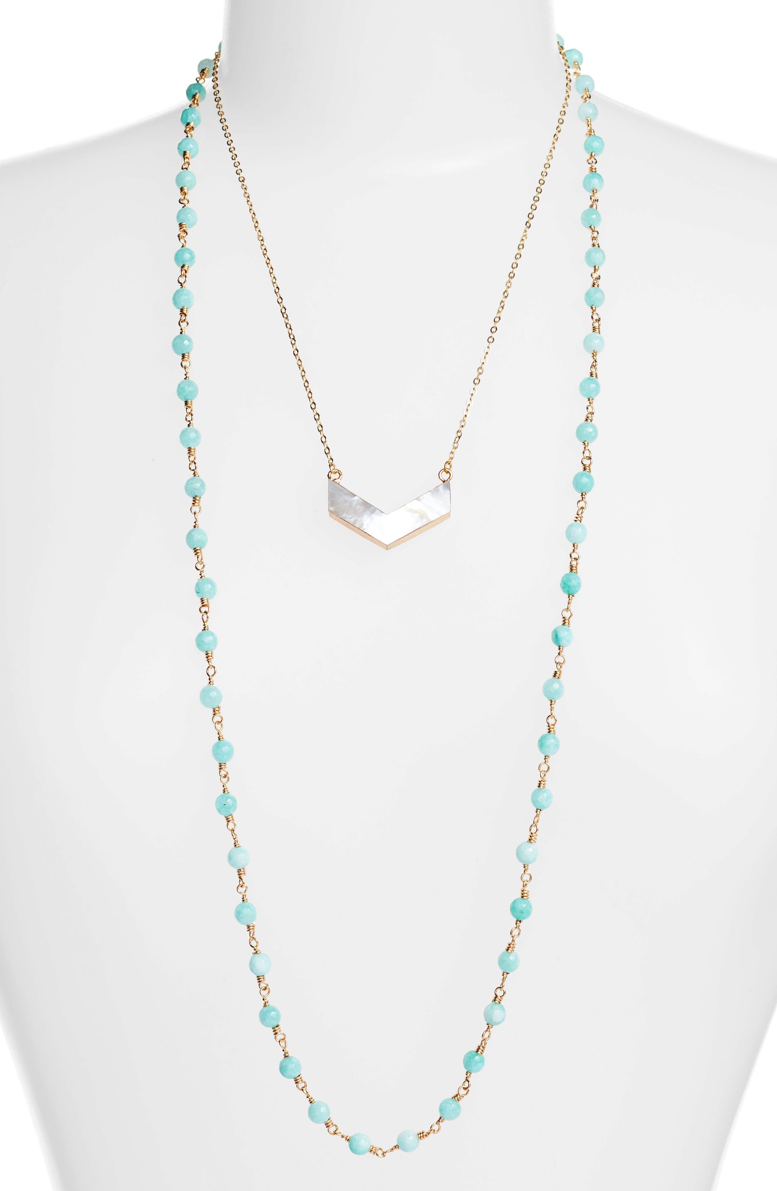 Julia Double Strand Necklace,                             Main thumbnail 3, color,