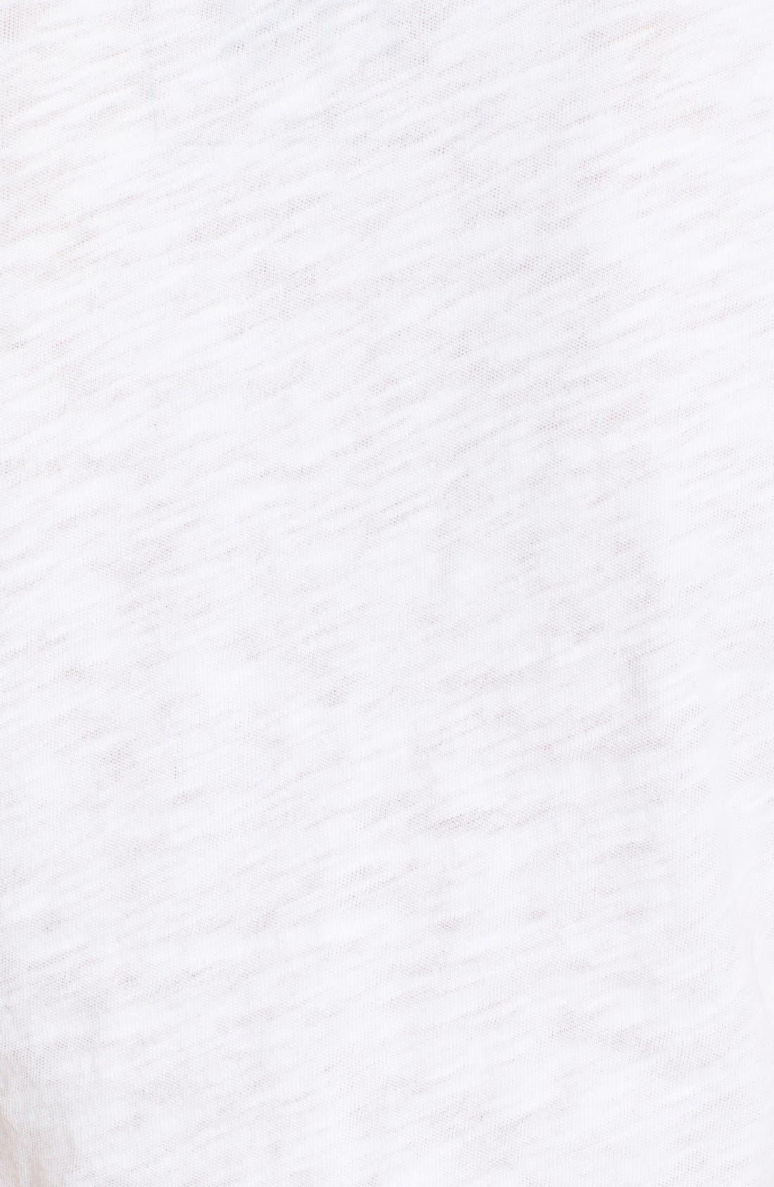 'Schoolboy' Cotton Crewneck Tee,                             Alternate thumbnail 9, color,                             WHITE