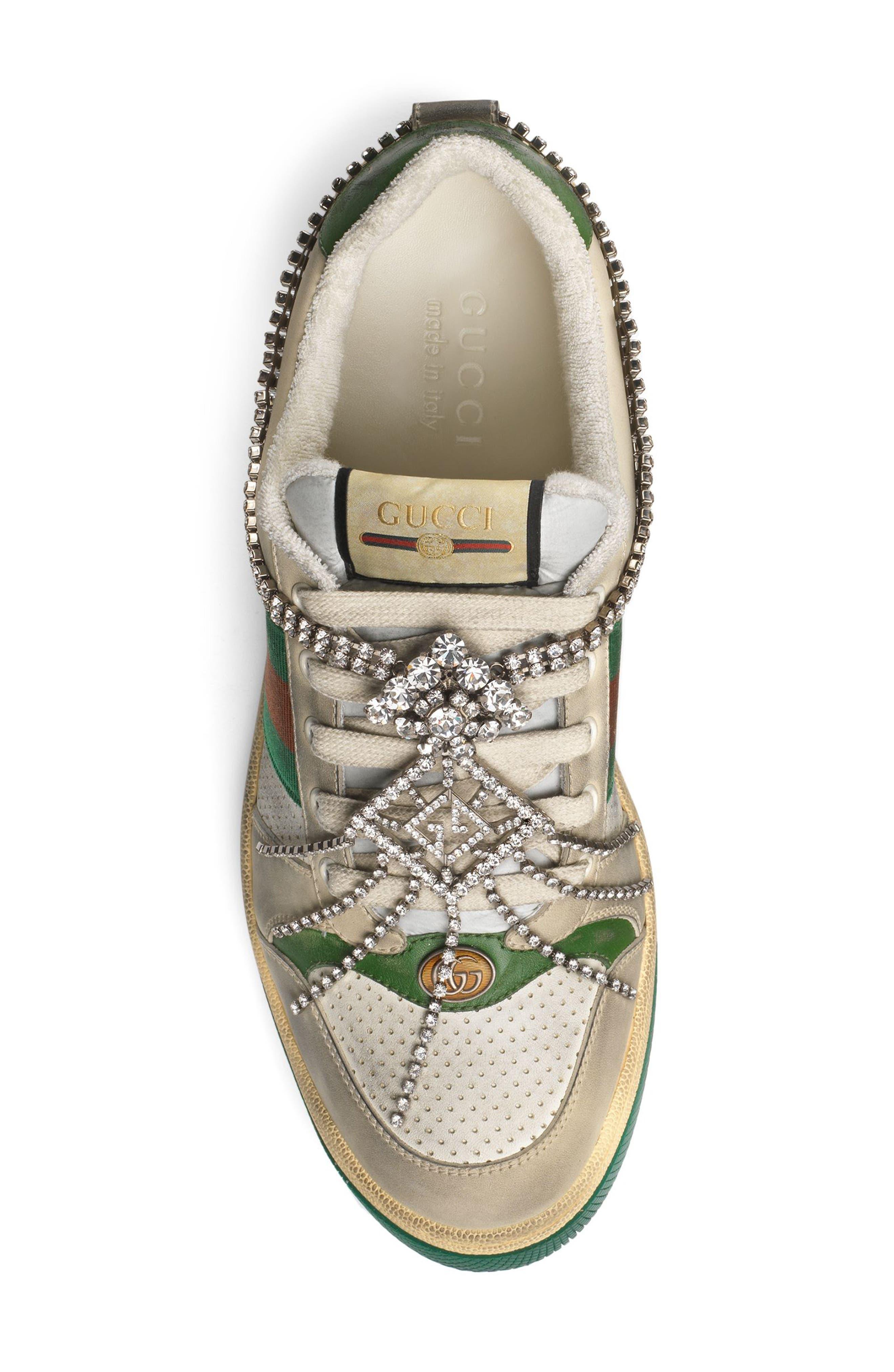 Screener Jewel Sneaker,                             Alternate thumbnail 5, color,                             BEIGE/ GREEN/ RED
