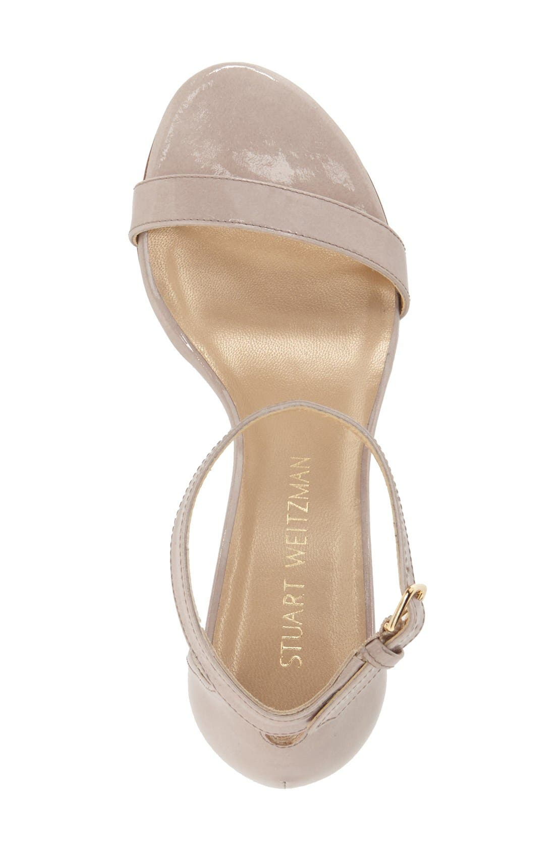 NearlyNude Ankle Strap Sandal,                             Alternate thumbnail 100, color,